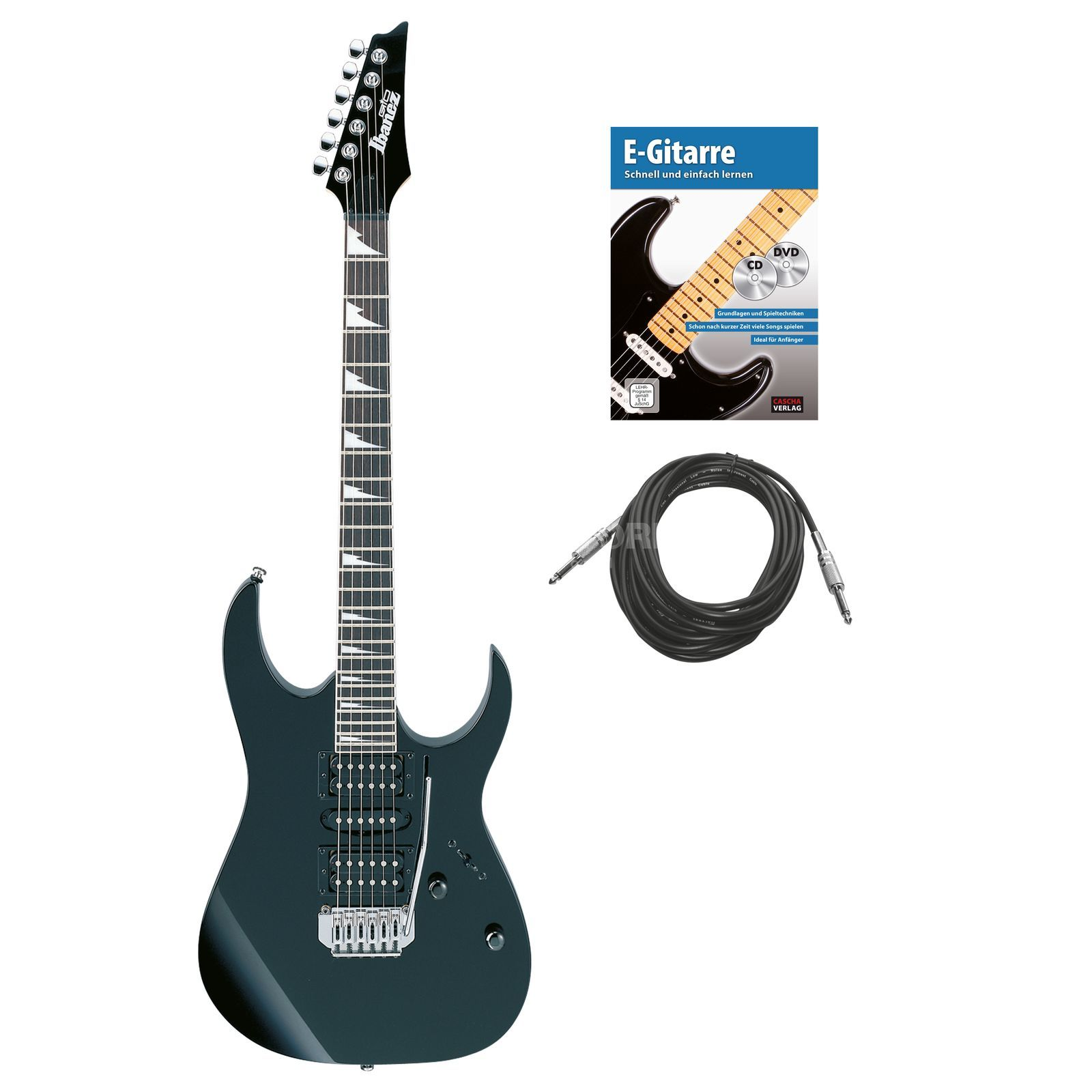 SET IBANEZ GRG170DX Black Night + FAME PL60R + Kabel + Songbook Produktbillede