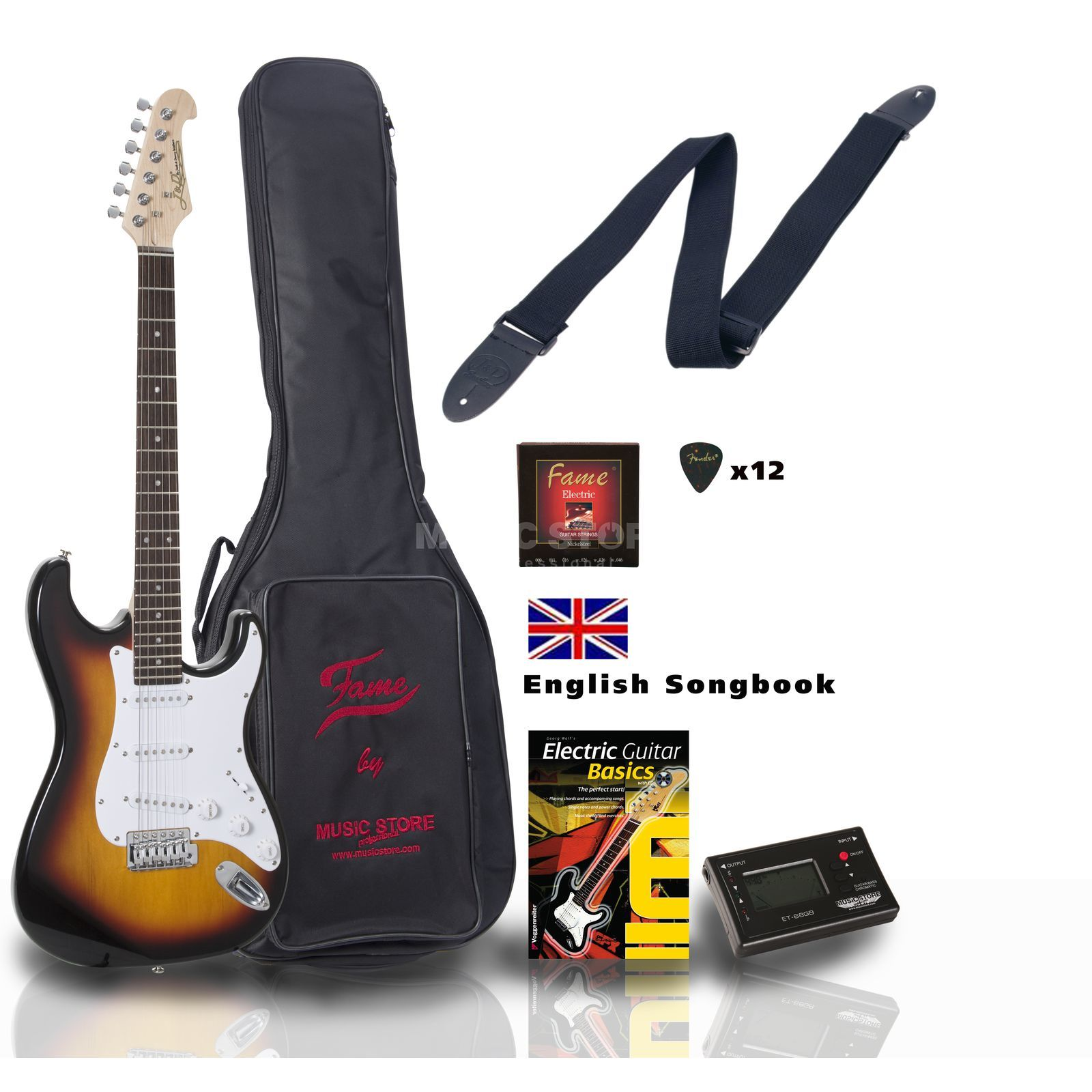 SET Jack Danny ST Rock SB ENGLISH +Bag+Strap+Tuner+Songbook etc. Produktbild