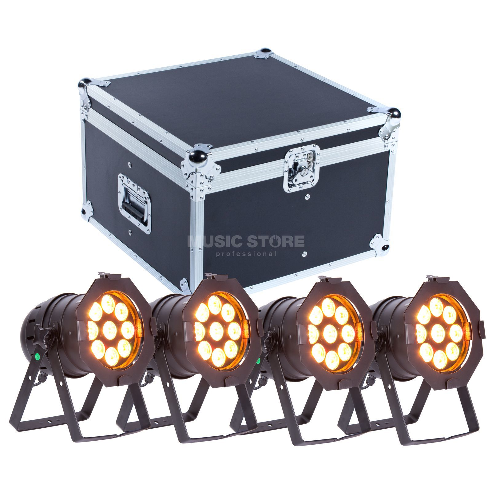 SET lightmaXX LED PAR 56 COMPLETE black  (4x) inkl. Case Produktbild