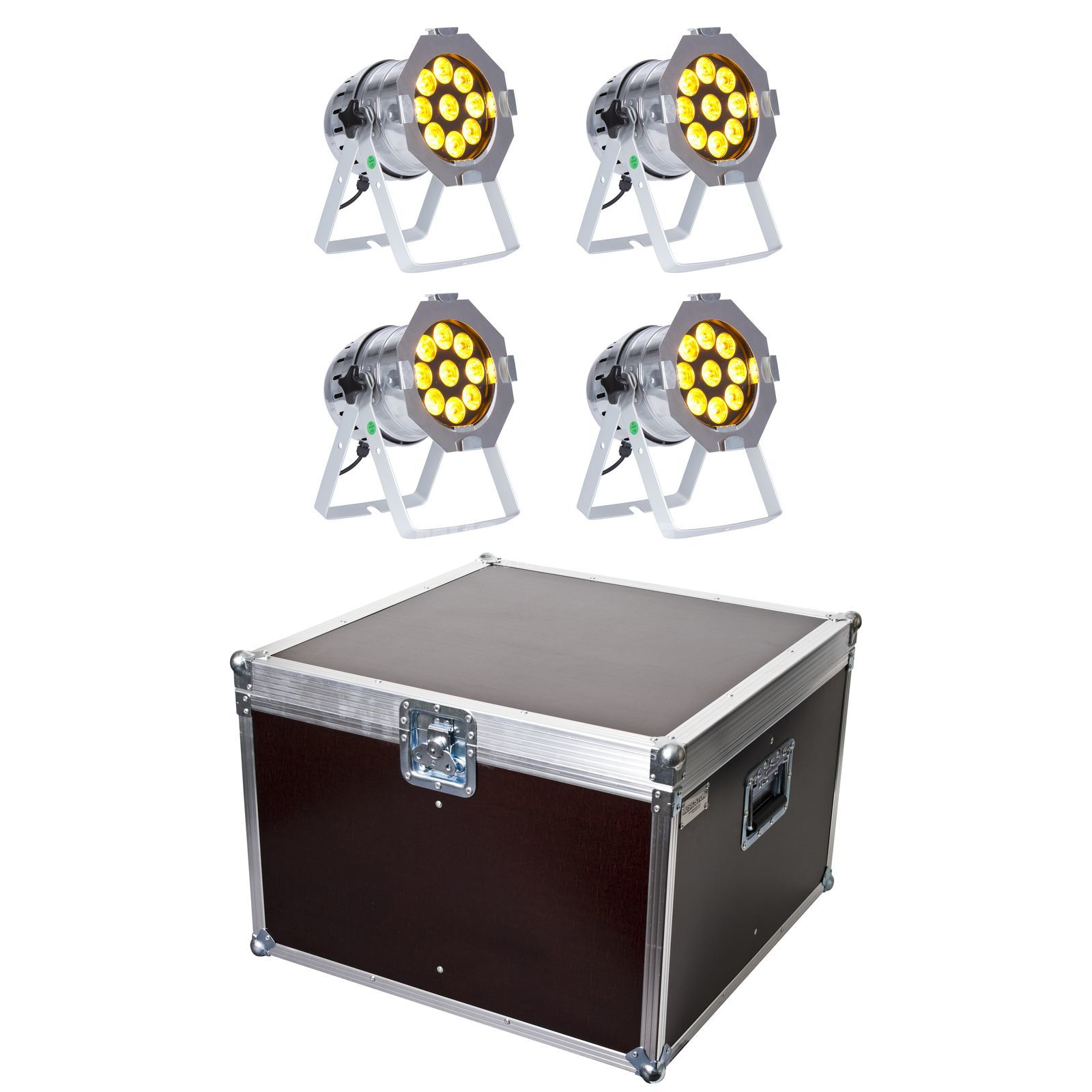 SET lightmaXX LED PAR 56 COMPLETE polish (4x) inkl. Case Produktbillede