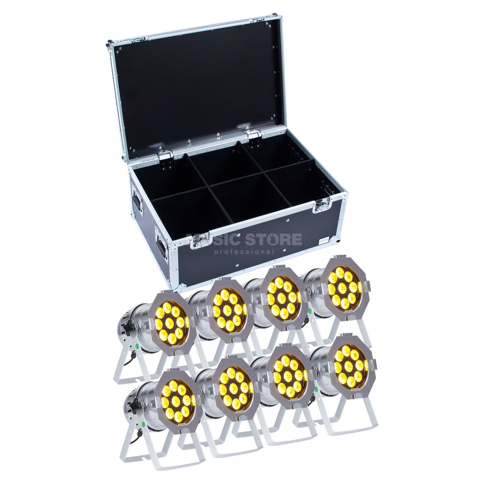 SET lightmaXX LED PAR 56 COMPLETE polish (8x) inkl. Case Produktbild