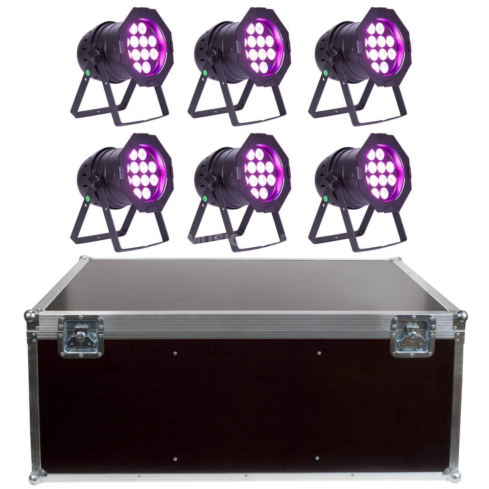 SET lightmaXX LED PAR 64 COMPLETE black  (6x) inkl. Case Produktbillede