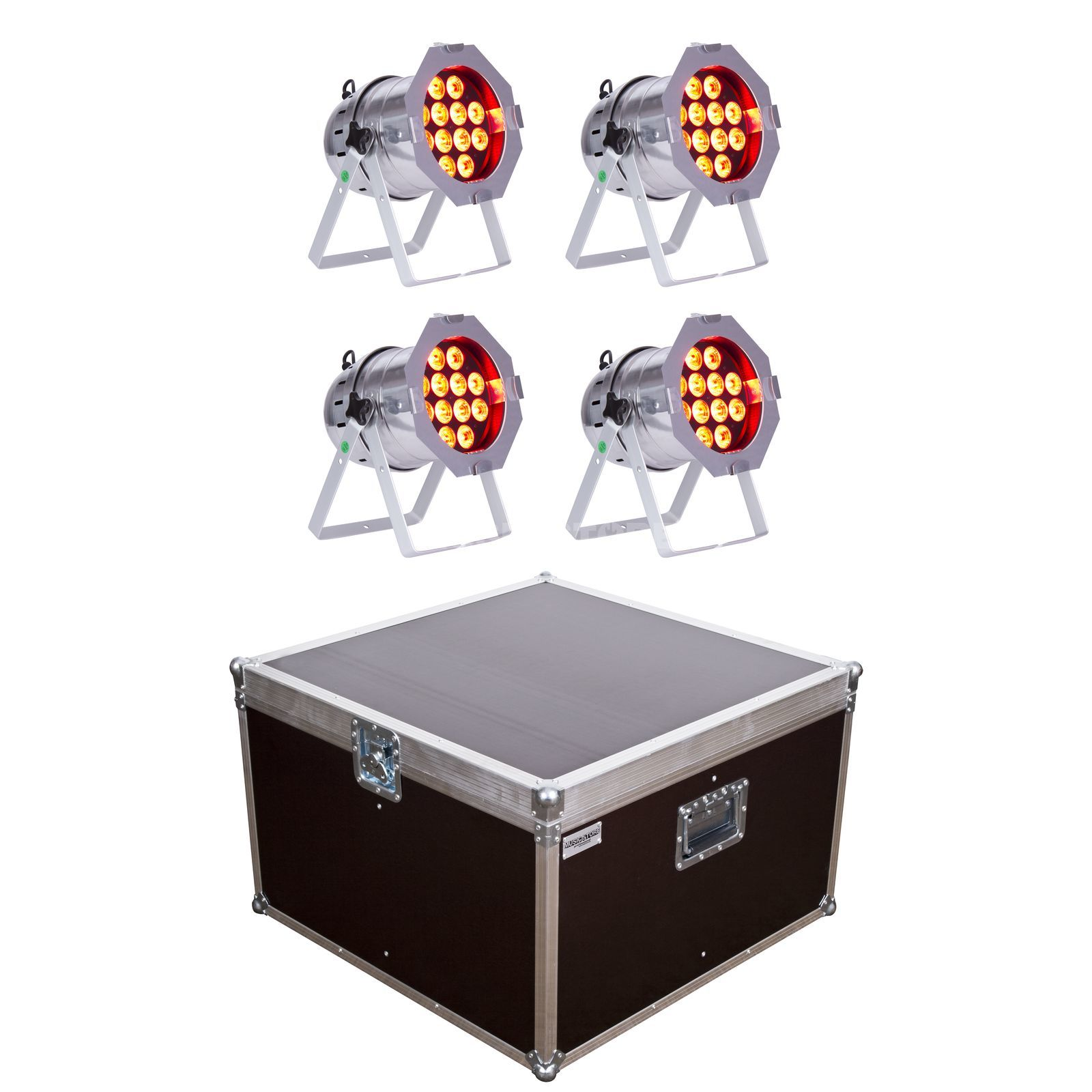 SET lightmaXX LED PAR 64 COMPLETE polish (4x) inkl. Case Produktbillede