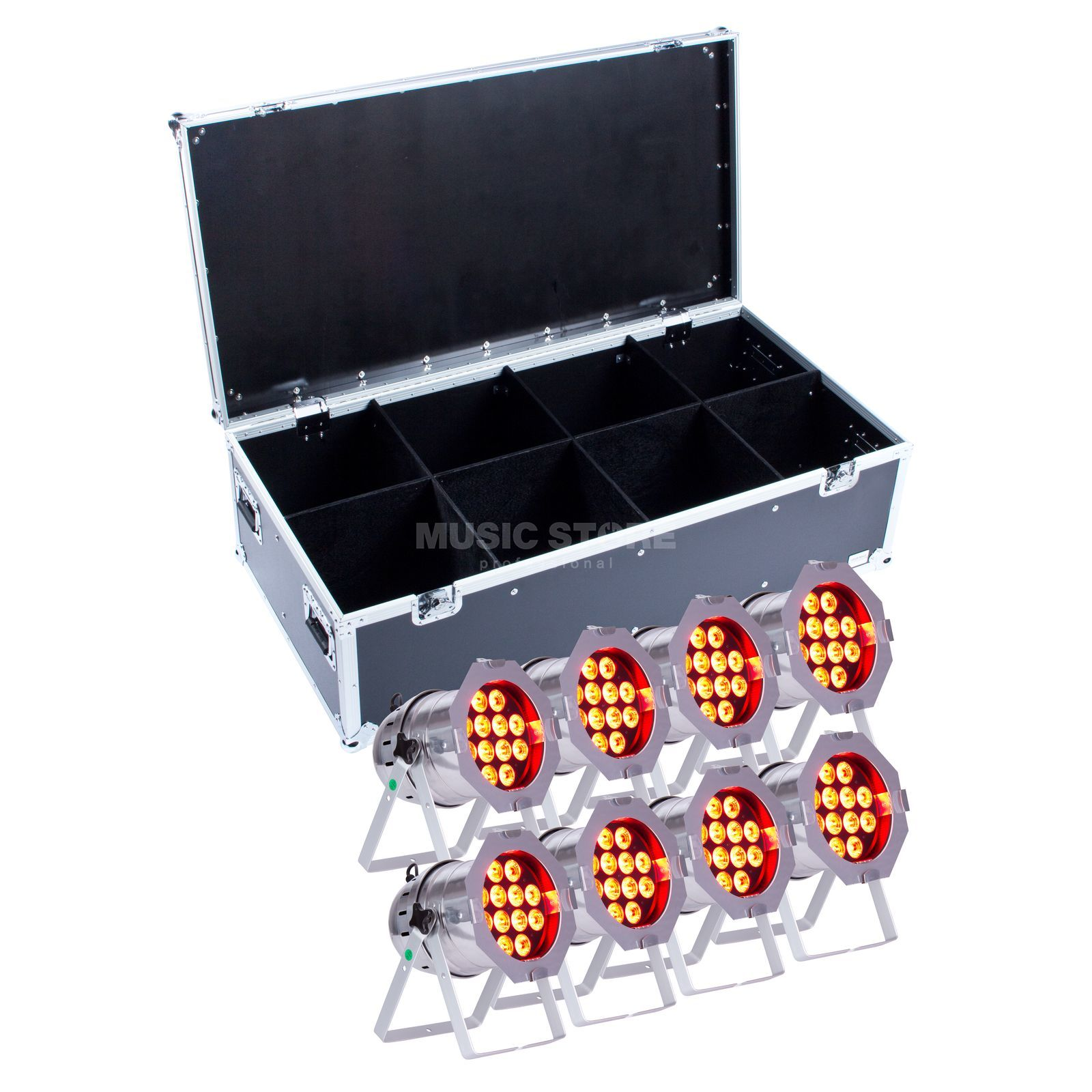 SET lightmaXX LED PAR 64 COMPLETE polish (8x) inkl. Case Produktbild