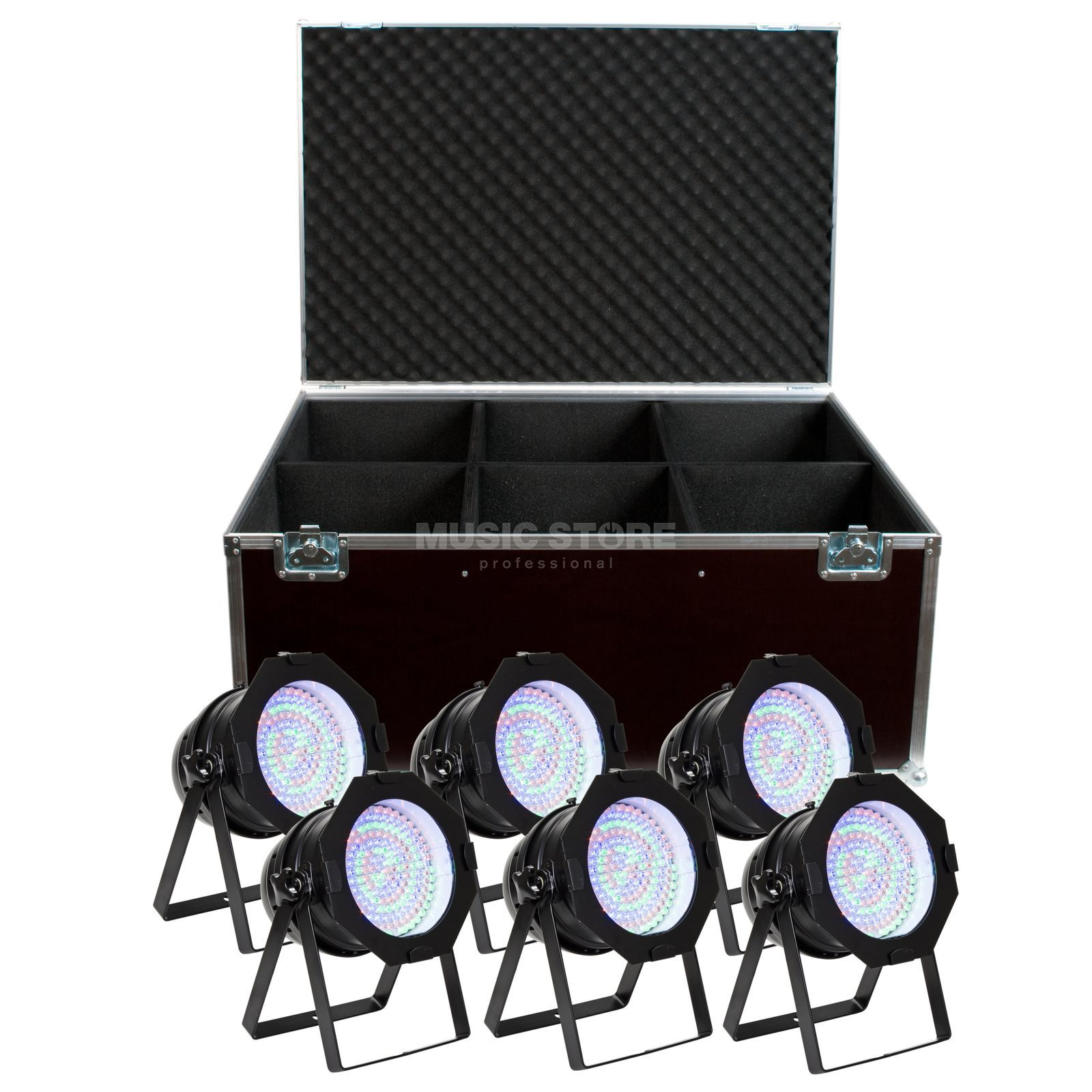 SET LightmaXX LED Par 64 RGB Black Short (6x), inkl. Case Produktbild