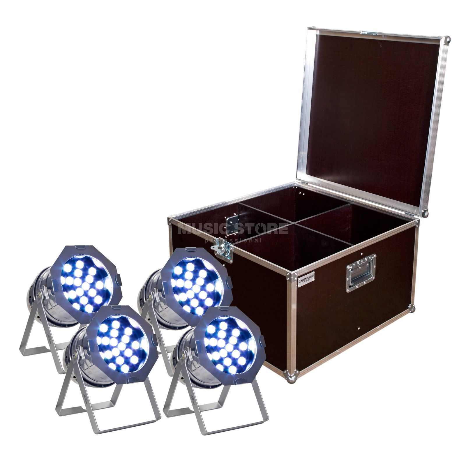 SET LightmaXX LED PAR 64 Tri-LED polish (4x), inkl. Case Produktbild