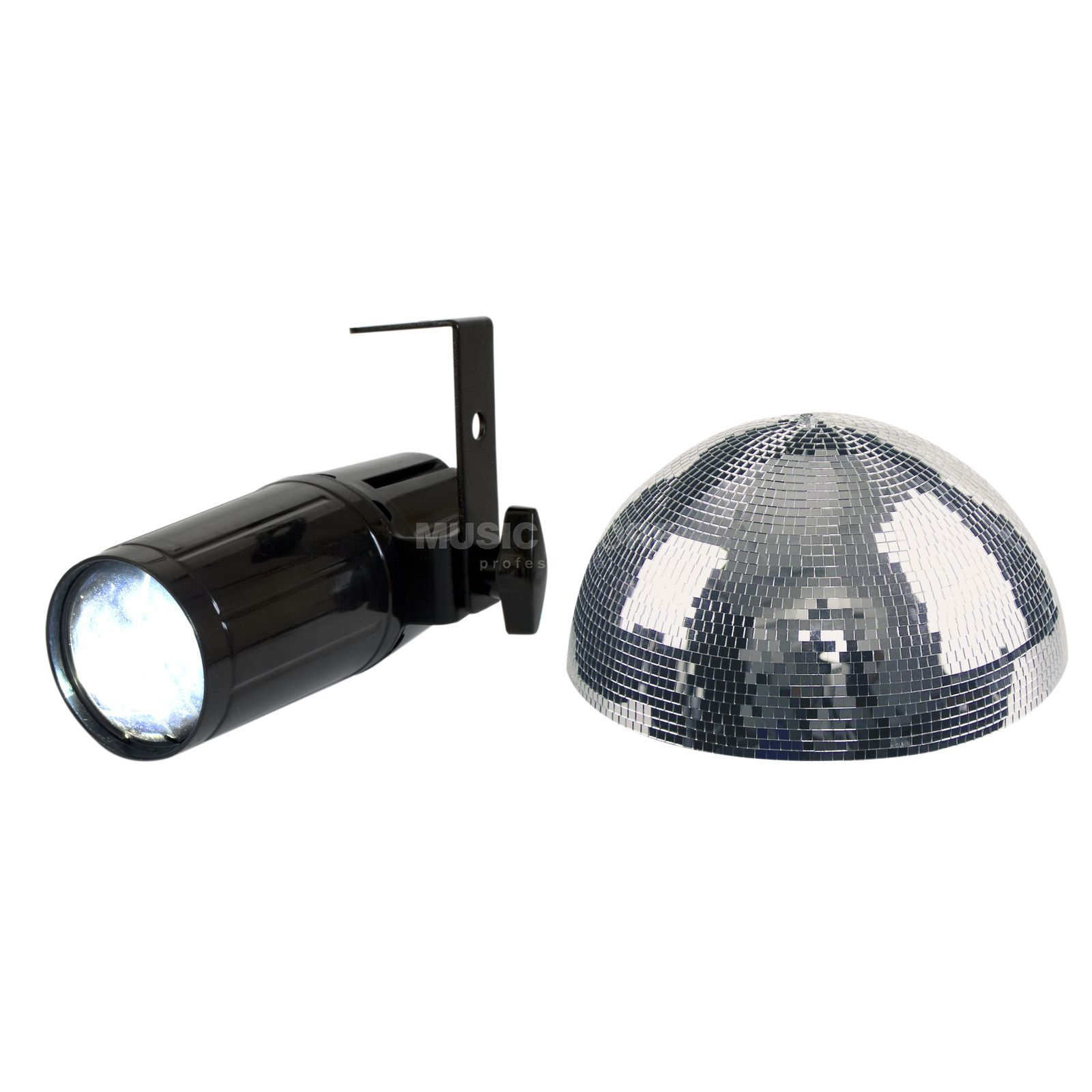 SET LightmaXX LED Pinspot inkl. Mirrorball Half 40 cm Produktbild