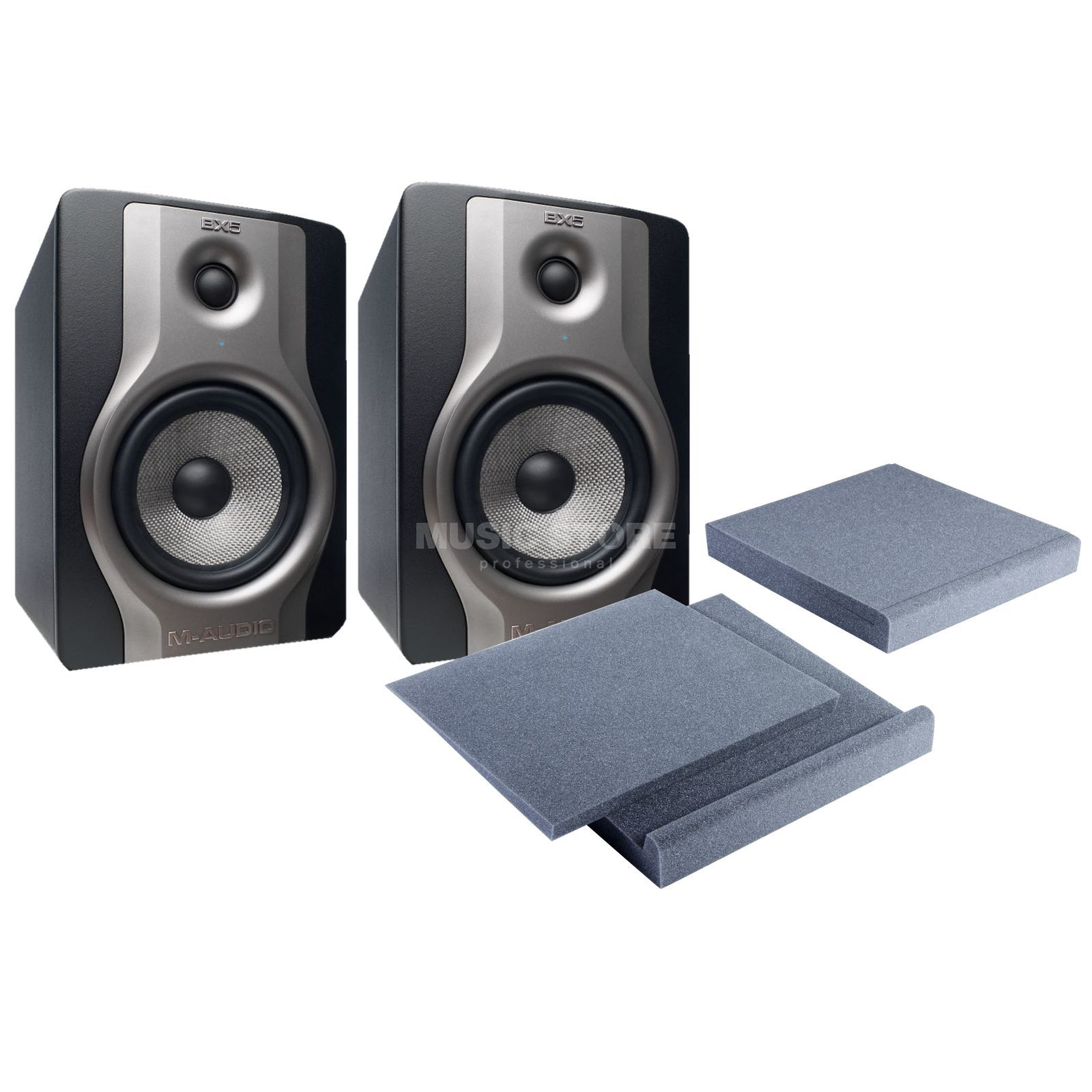 SET M-Audio BX5 Carbon inkl. Speakerpad Set Produktbild