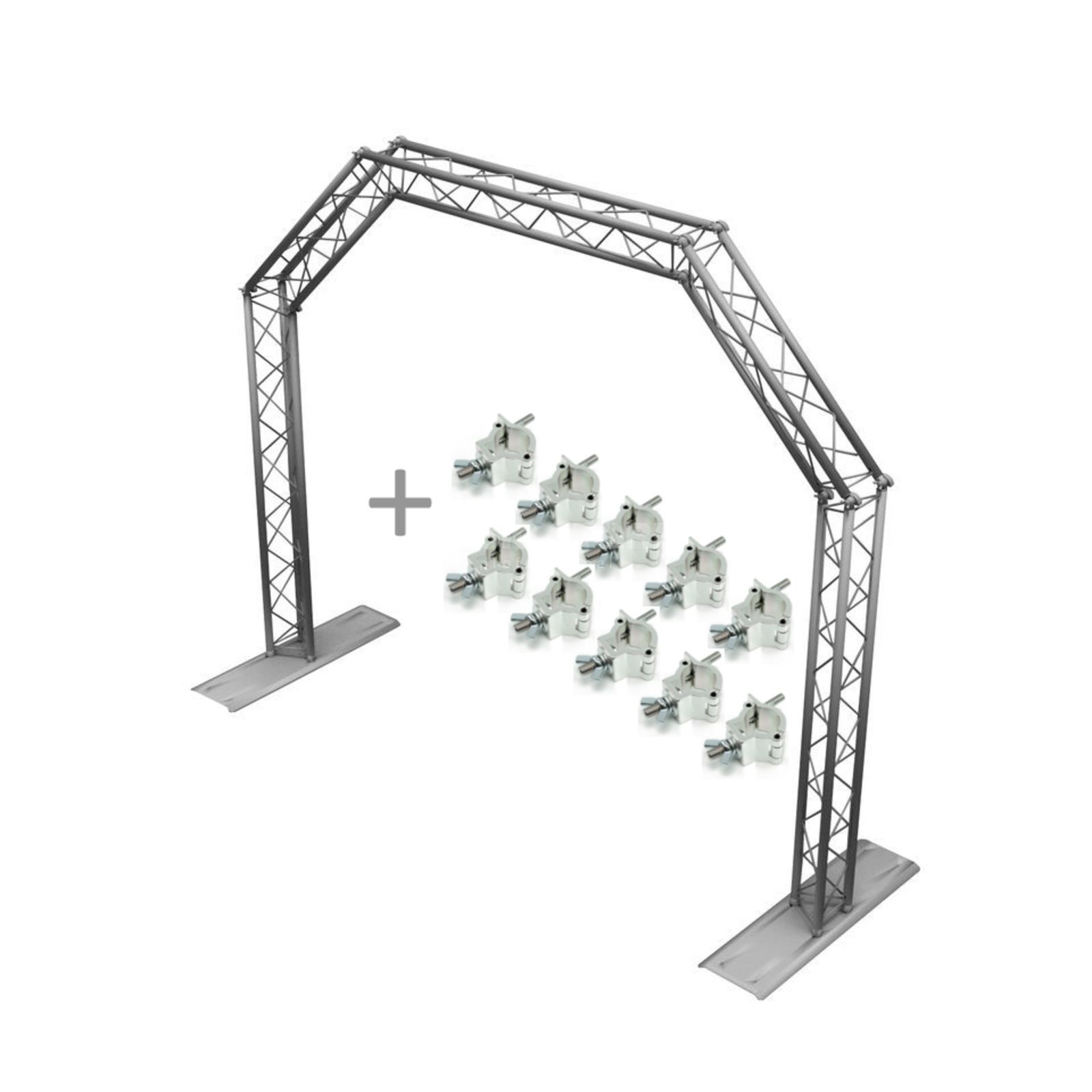 SET MOBILE DJ TRUSS GATE silver +10x Half Coupler Produktbild