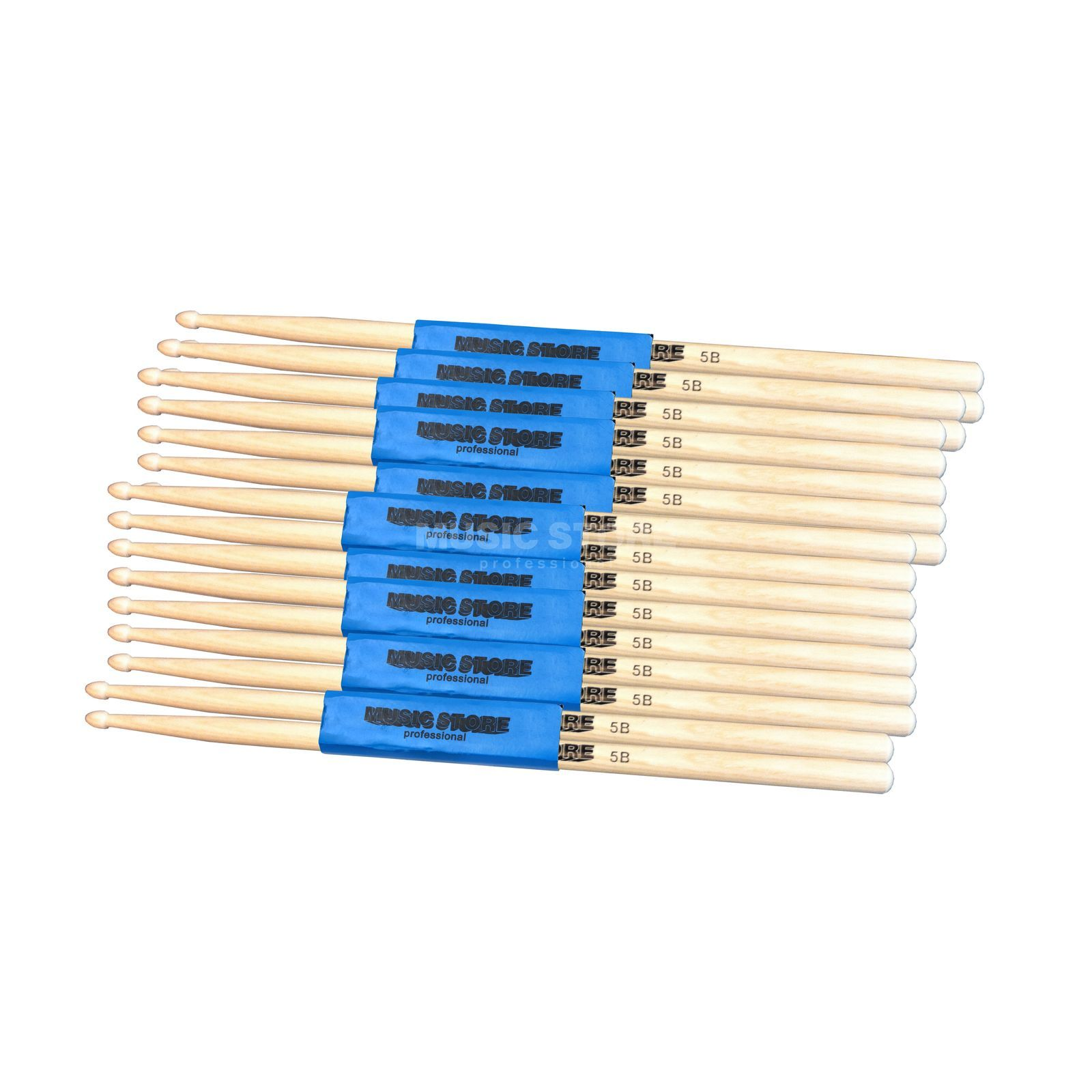 SET MUSIC STORE Maple Stix Bundle 10 Paar, Größe 5B Produktbillede