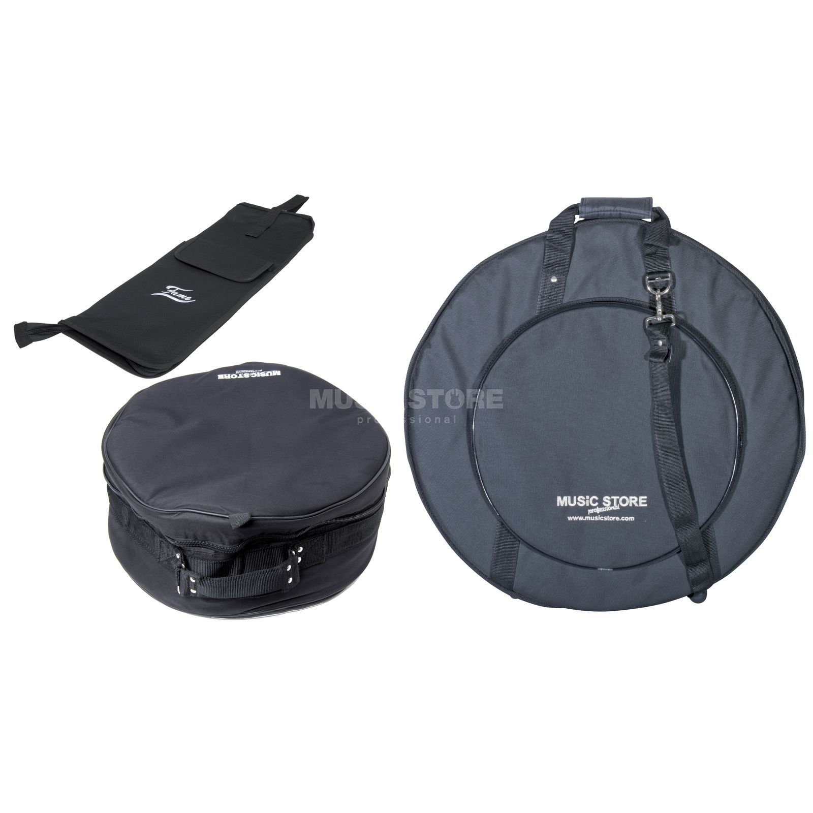 SET MUSICSTORE Travel Bag Set I, Snare-, Stick & Cymbal Bag Produktbild