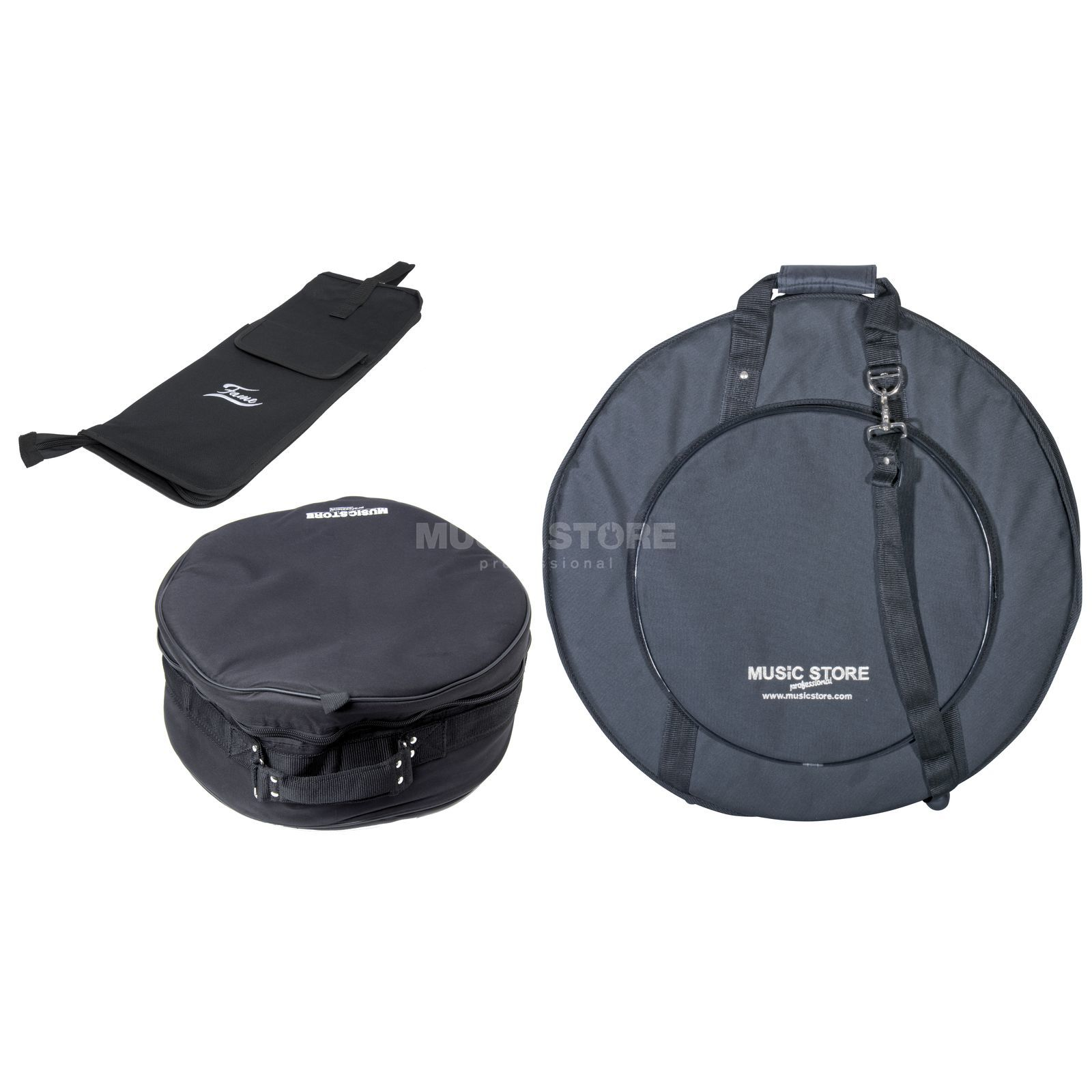 SET MUSICSTORE Travel Bag Set II, Snare-, Stick & Cymbal Bag Produktbild