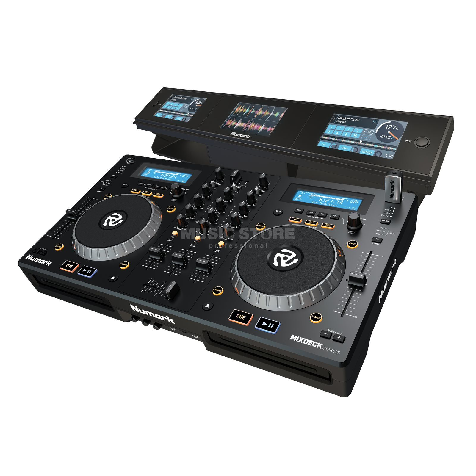 SET Numark Mixdeck Express Black incl. Dashboard Productafbeelding