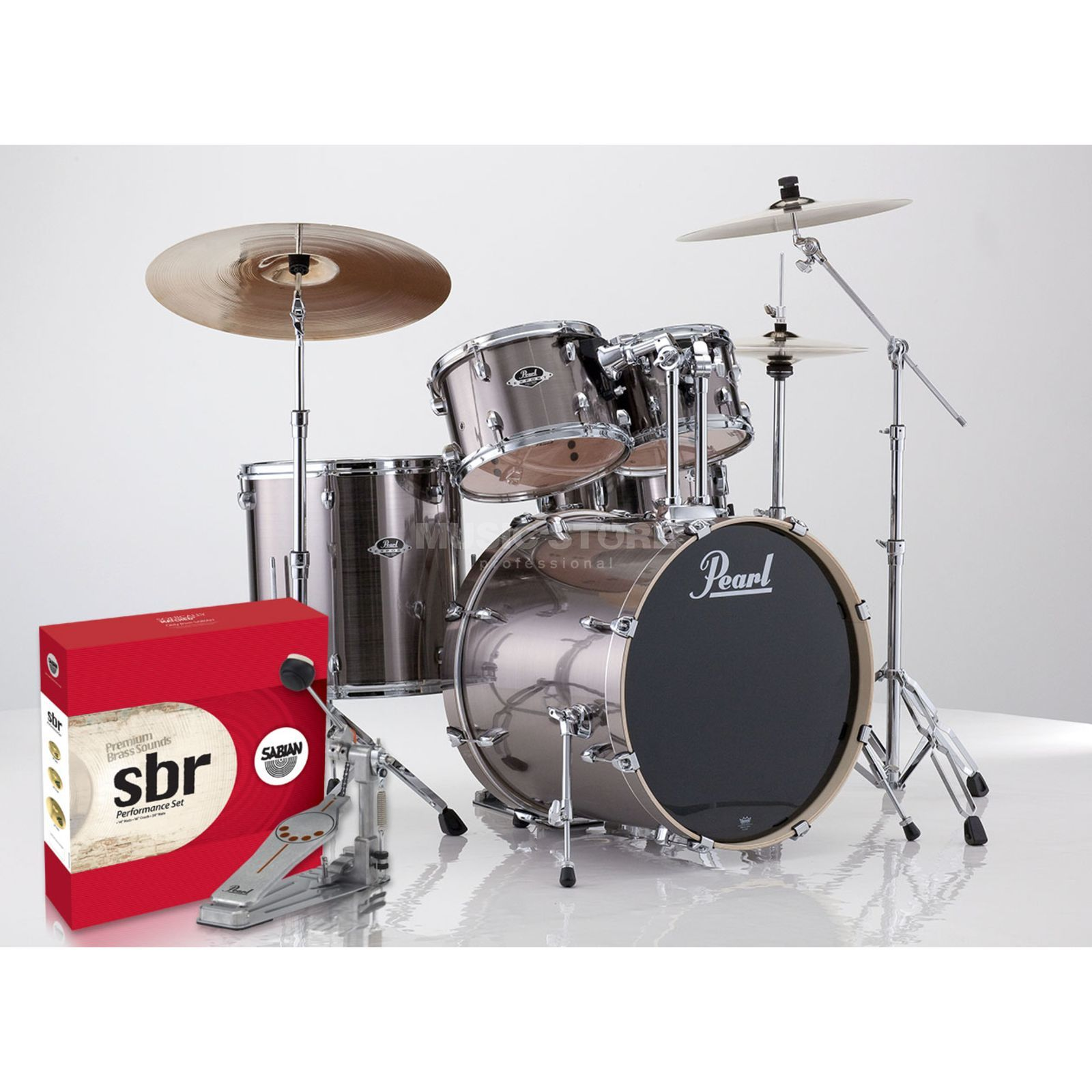SET Pearl Export 705BR/C-21 inkl. Hocker, Gehörschutz & Sticks Produktbillede