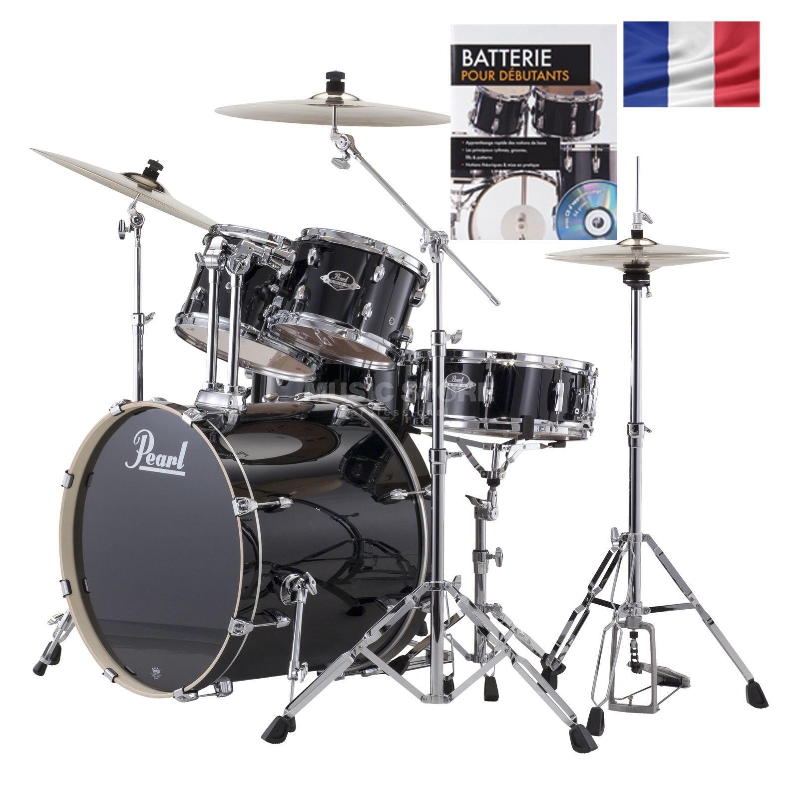 SET PEARL Export Batterie EXX705Z /C, #Jet Black + partitions Produktbild