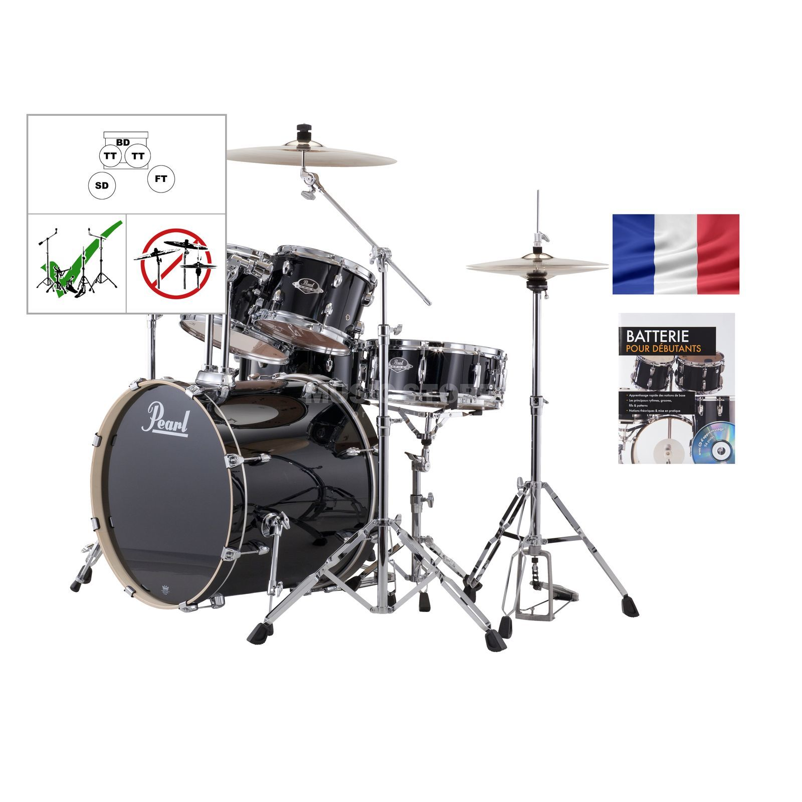 SET PEARL Export Batterie EXX725FZ /C, #Jet Black + partitions Produktbillede