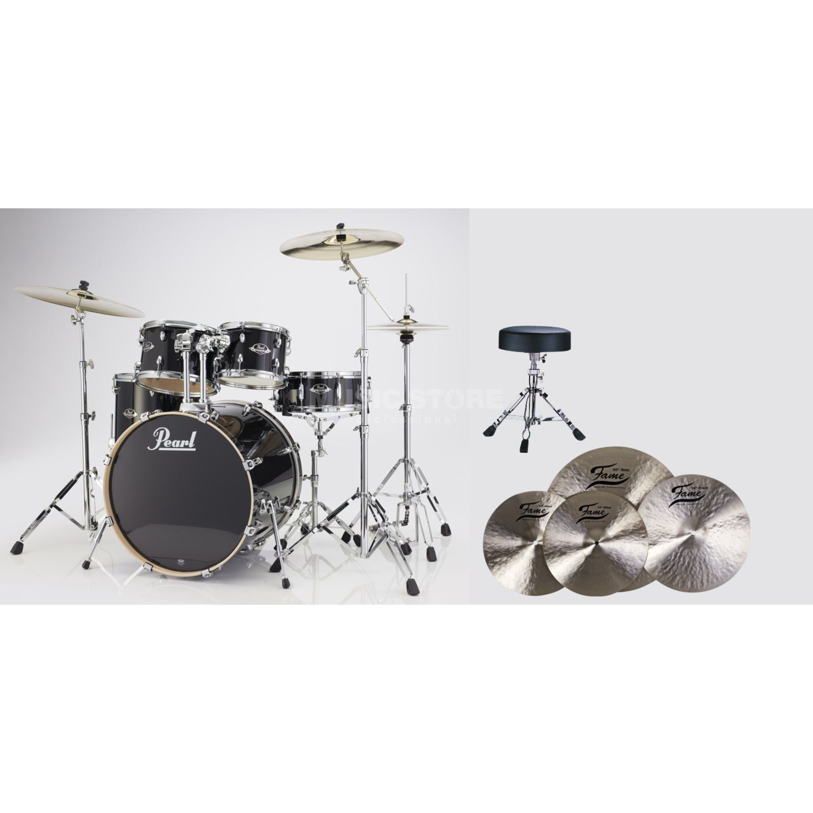 SET Pearl Export Bundle EXX705C248 inkl. B20 Becken & Hocker Produktbild