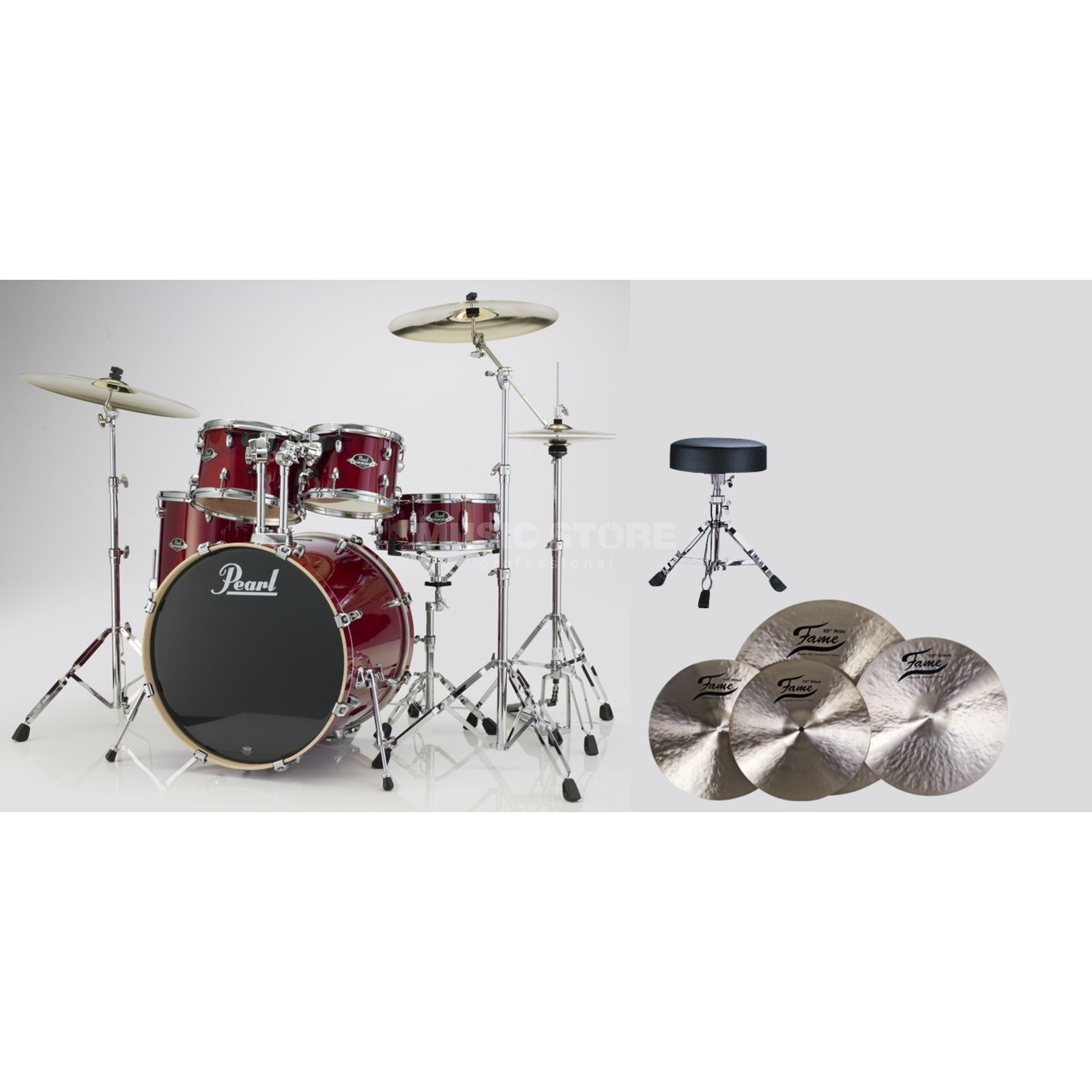 SET Pearl Export Bundle EXX725S246 inkl. B20 Becken & Hocker Produktbild