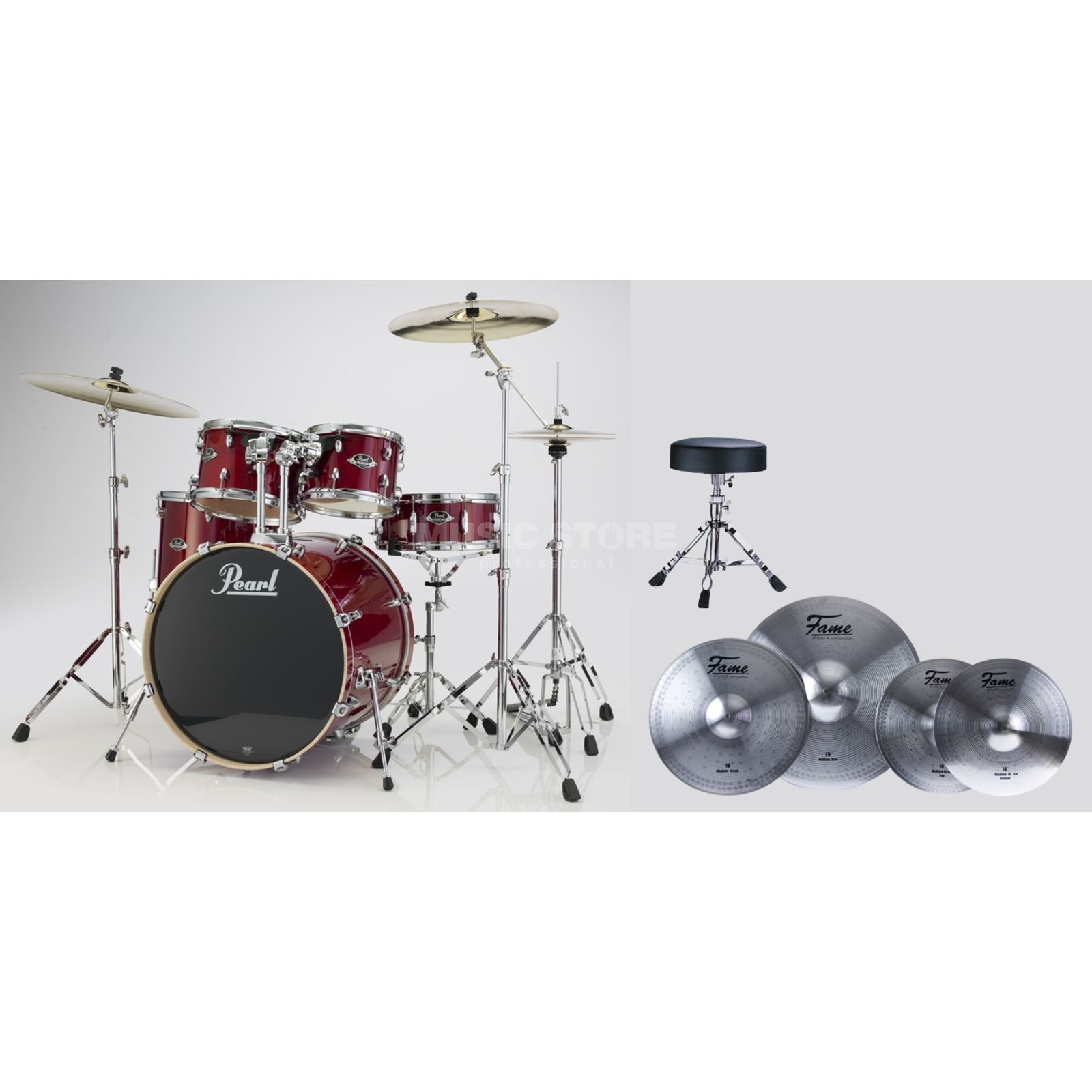 SET Pearl Export Bundle EXX725S246 inkl. Reflex Becken & Hocker Produktbild