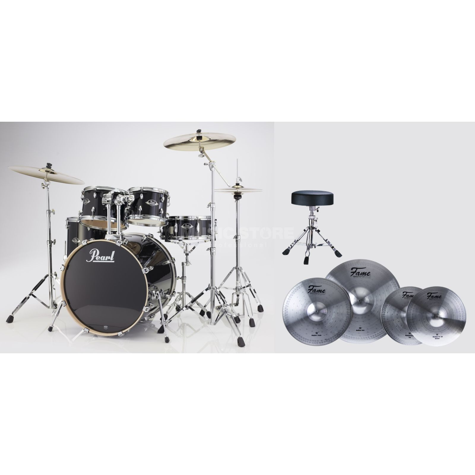SET Pearl Export Bundle EXX725S248 inkl. Reflex Becken & Hocker Produktbillede