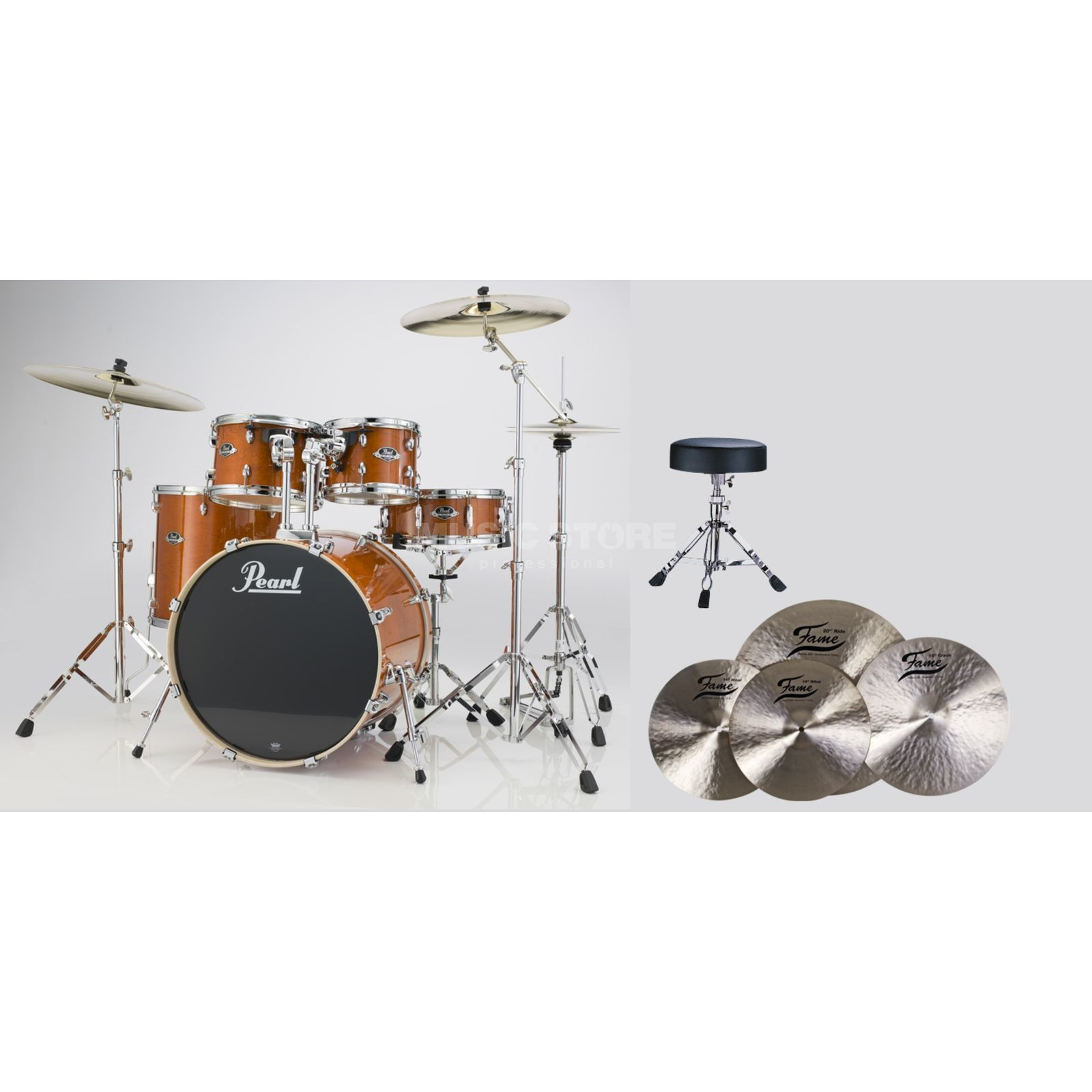 SET Pearl Export Bundle EXX725S249 inkl. B20 Becken & Hocker Produktbild