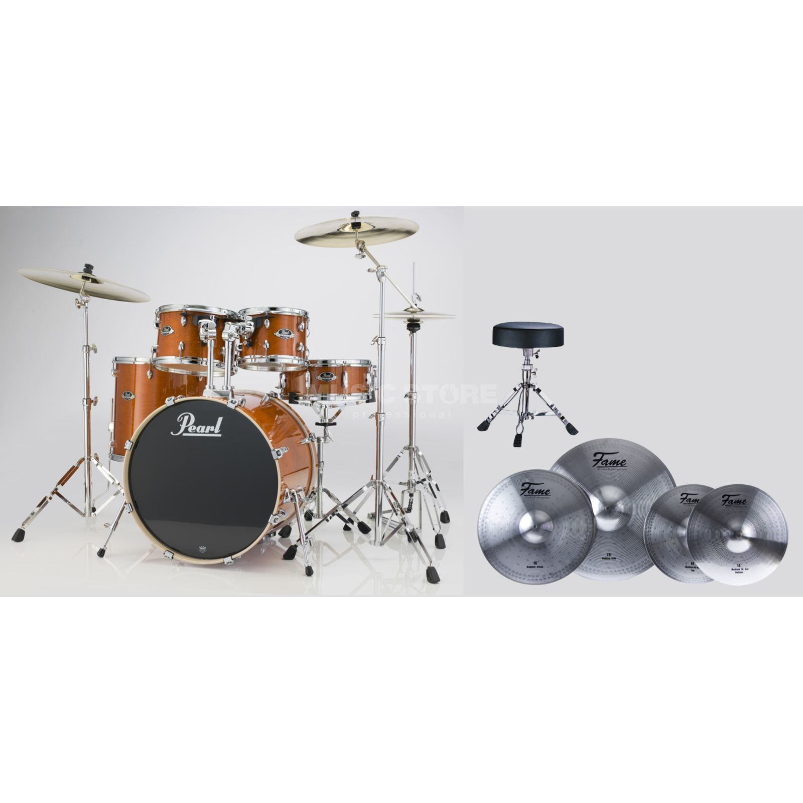SET Pearl Export Bundle EXX725S249 inkl. Reflex Becken & Hocker Produktbild