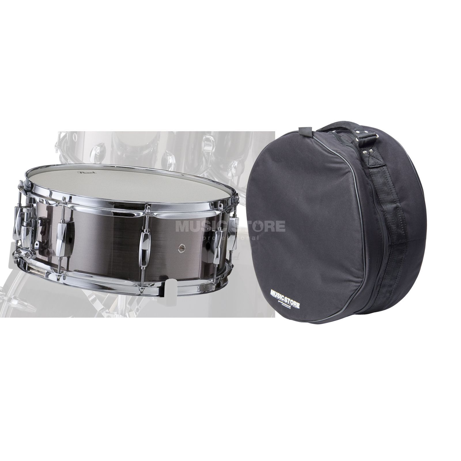 "SET Pearl Export SnareDrum, 14""x5,5"", incl. Bag, S. Chrome Produktbild"