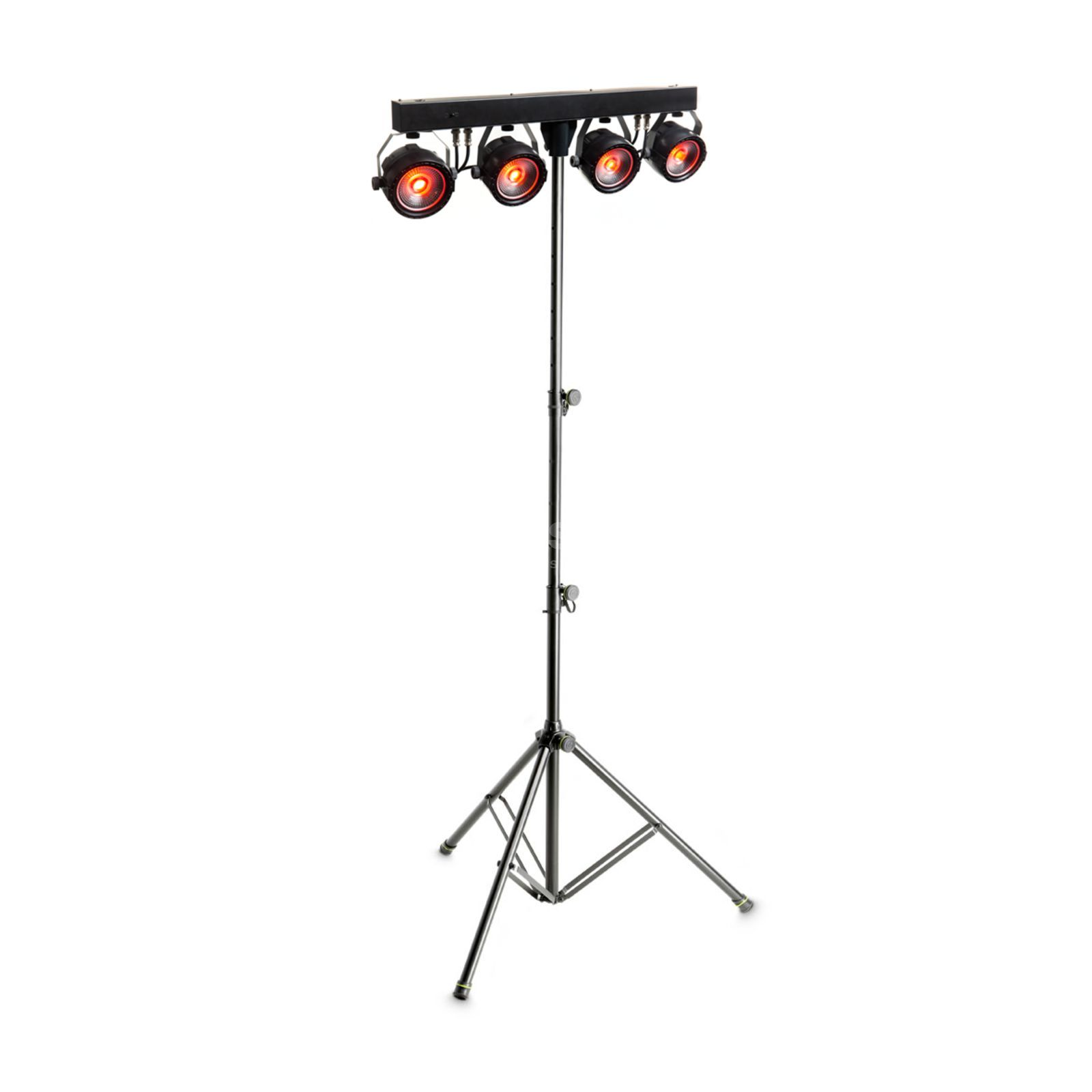 SET Platinum LED MINI PAR QUAD bl. (4x), in. DMX Controller/Kabel Produktbild