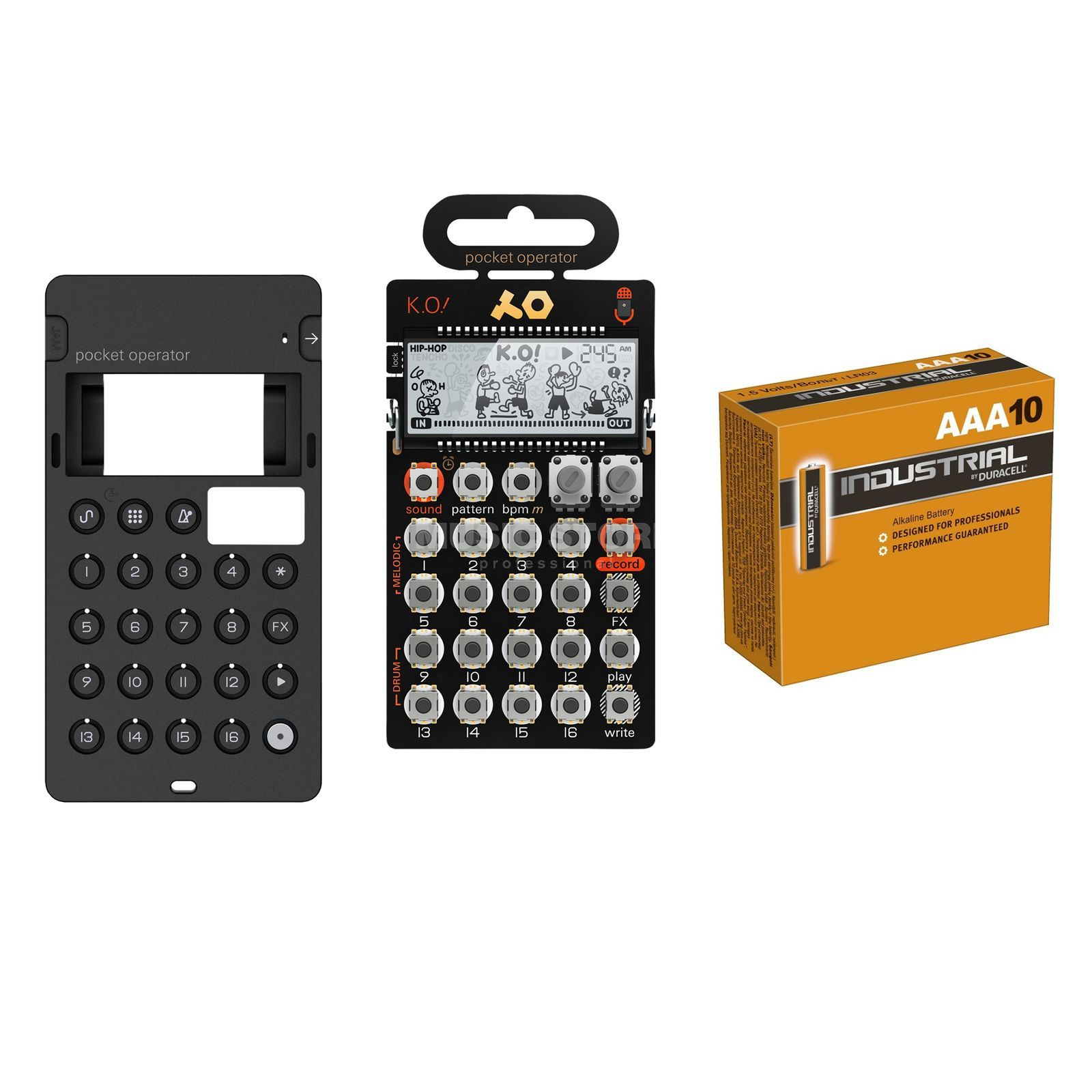 SET PO-10 Bundle PO-12/14/16+Cases+MC-3 + 6 AAA Produktbild
