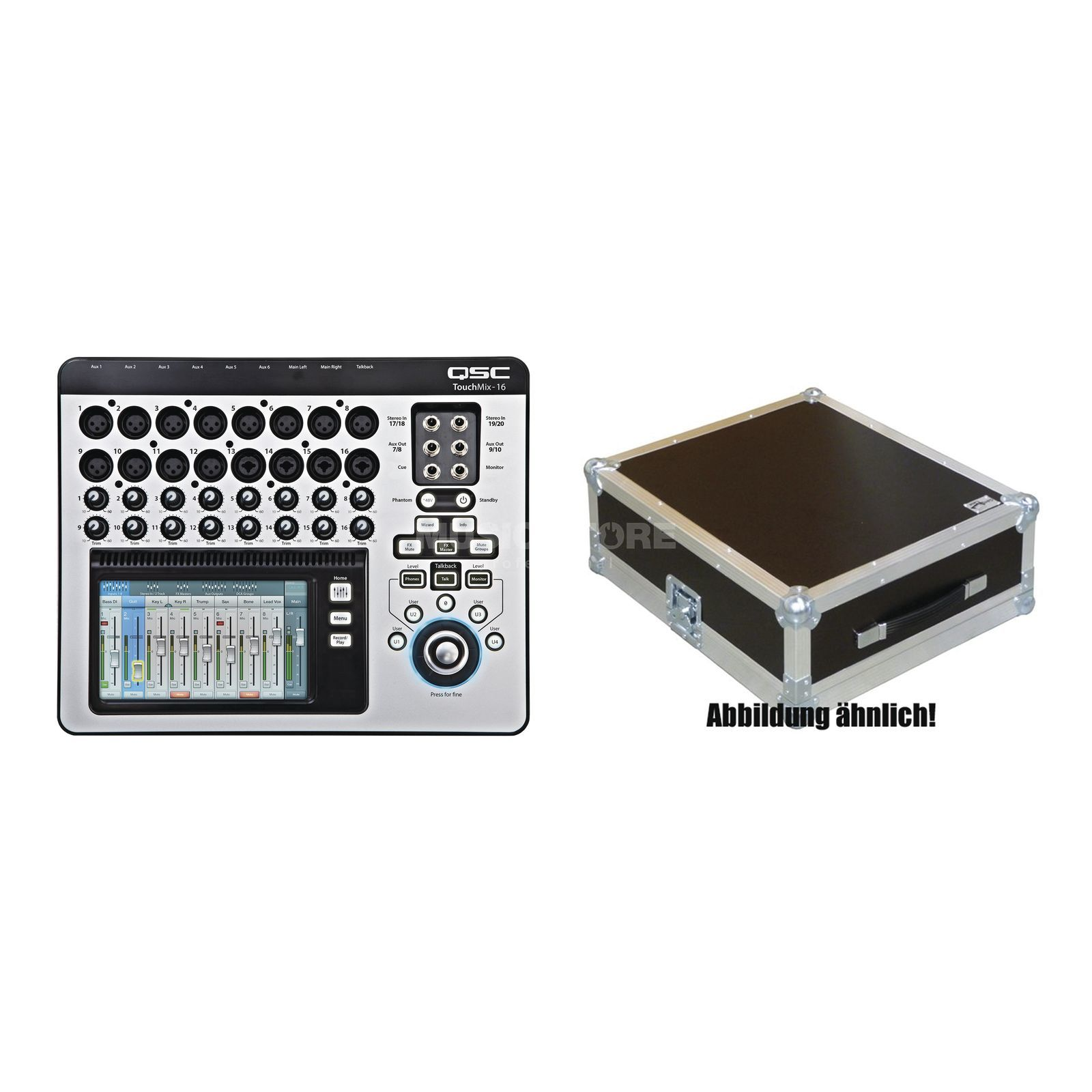 SET QSC TouchMix-16 Digitalmixer inkl. Case Produktbillede