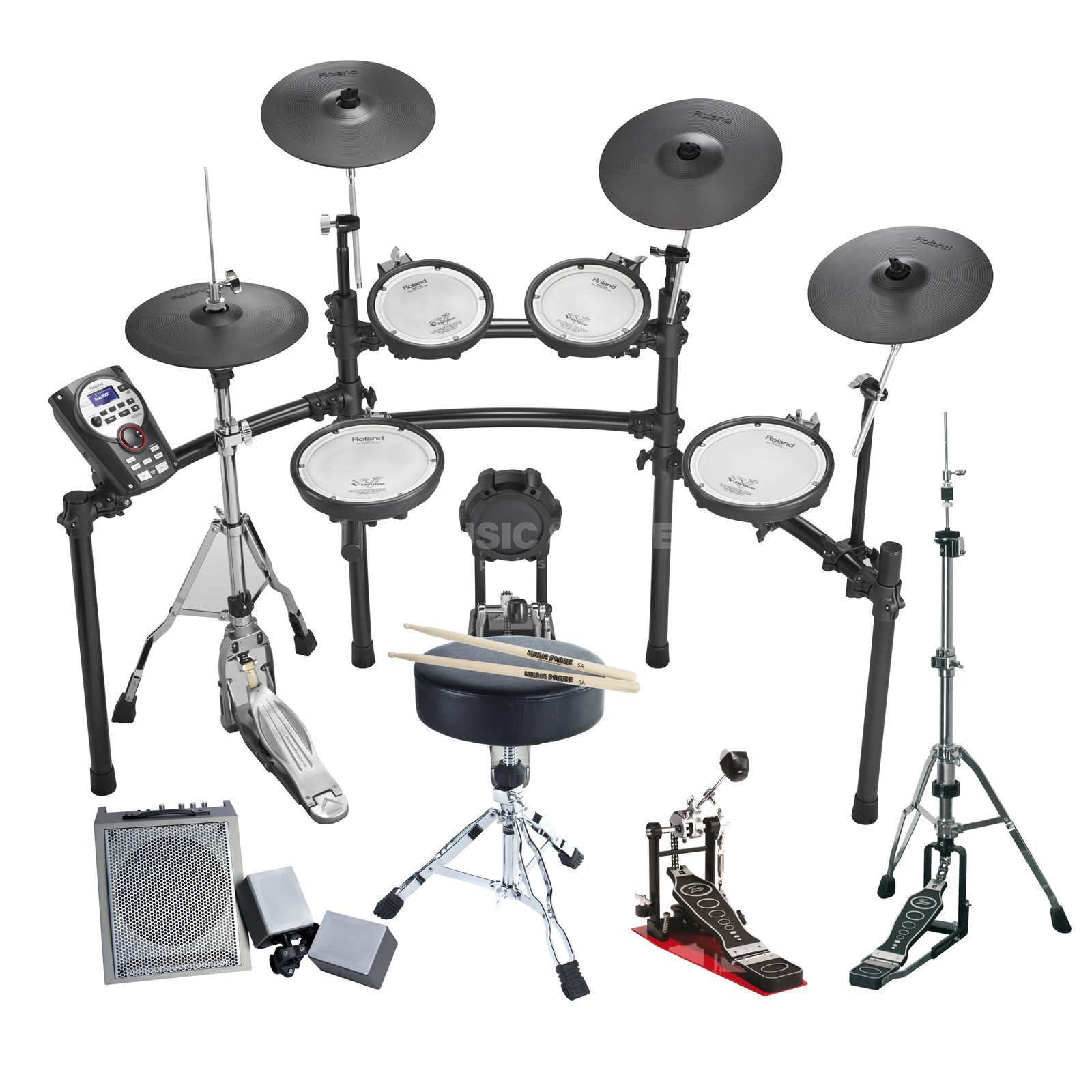SET ROLAND TD-11KVSE Bundle II, + Hardware, Monitor & Sticks Produktbillede