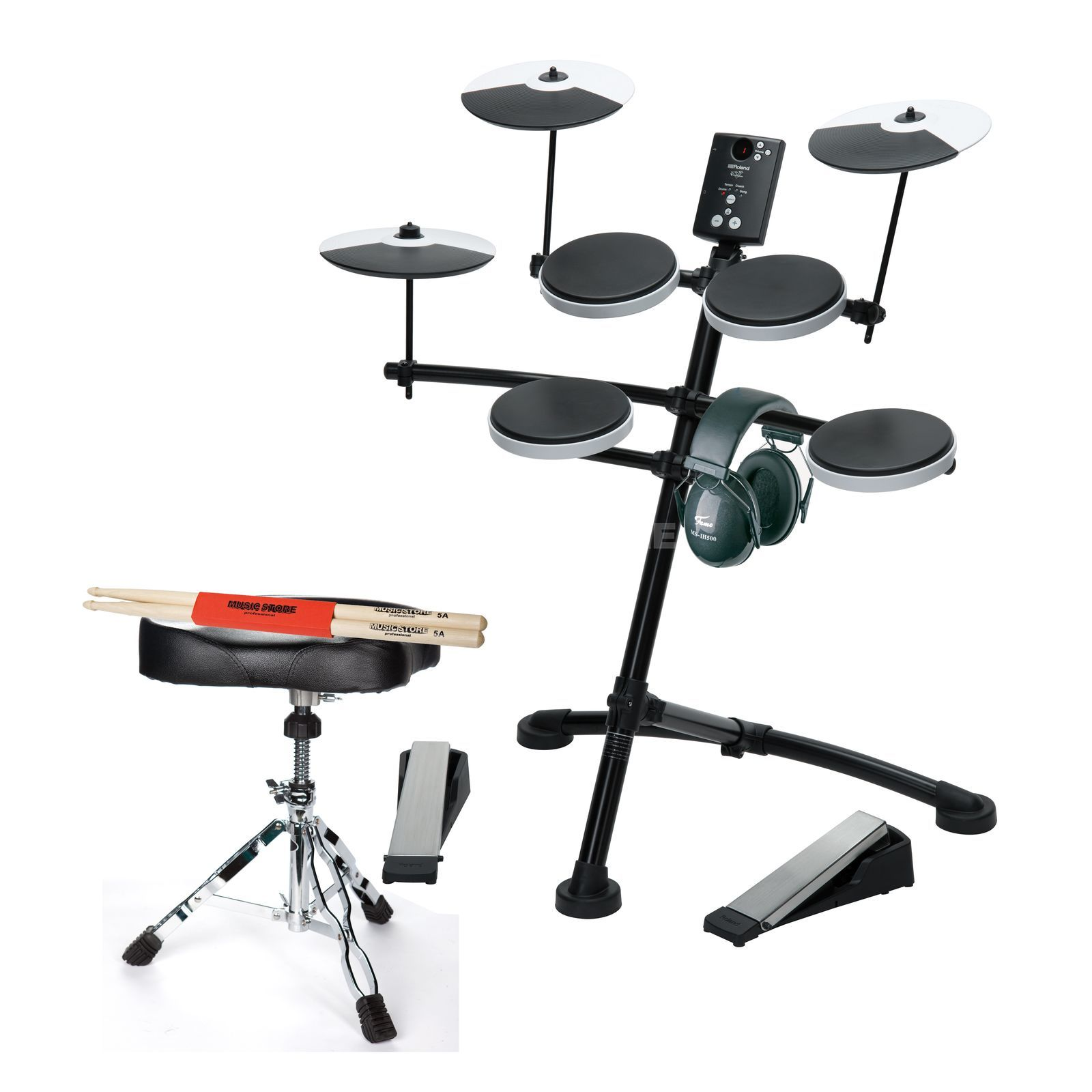 SET ROLAND TD-1K Bundle I inkl. Hocker, Kopfhörer & Sticks Produktbillede