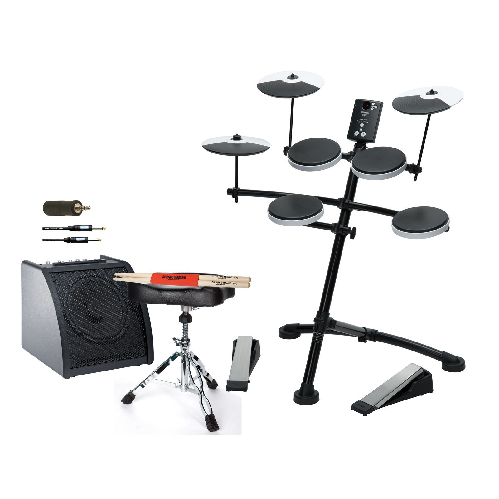 SET ROLAND TD-1K Bundle II inkl. Monitor, Hocker & Sticks Produktbild