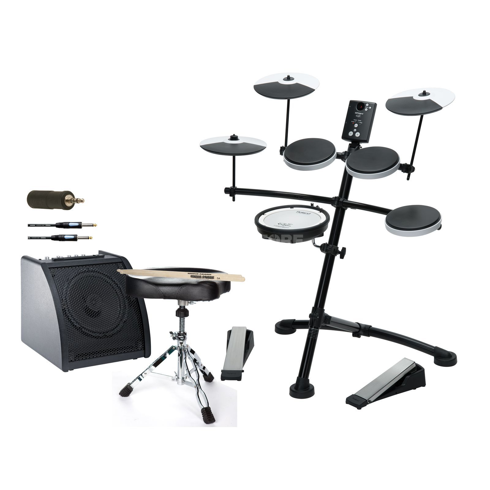 SET ROLAND TD-1KV Bundle II inkl. Monitor, Hocker & Sticks Produktbild