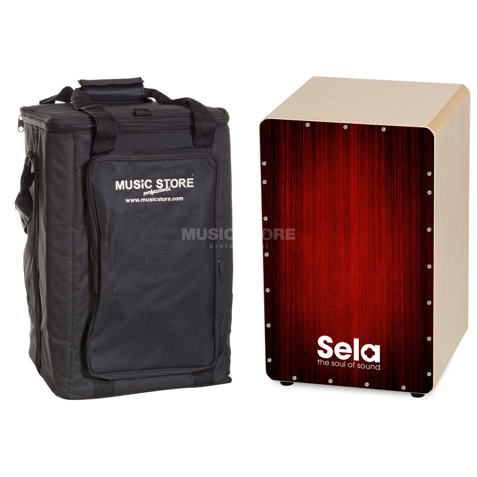 SET SELA Varios Cajon Red, inkl. Bag Produktbild