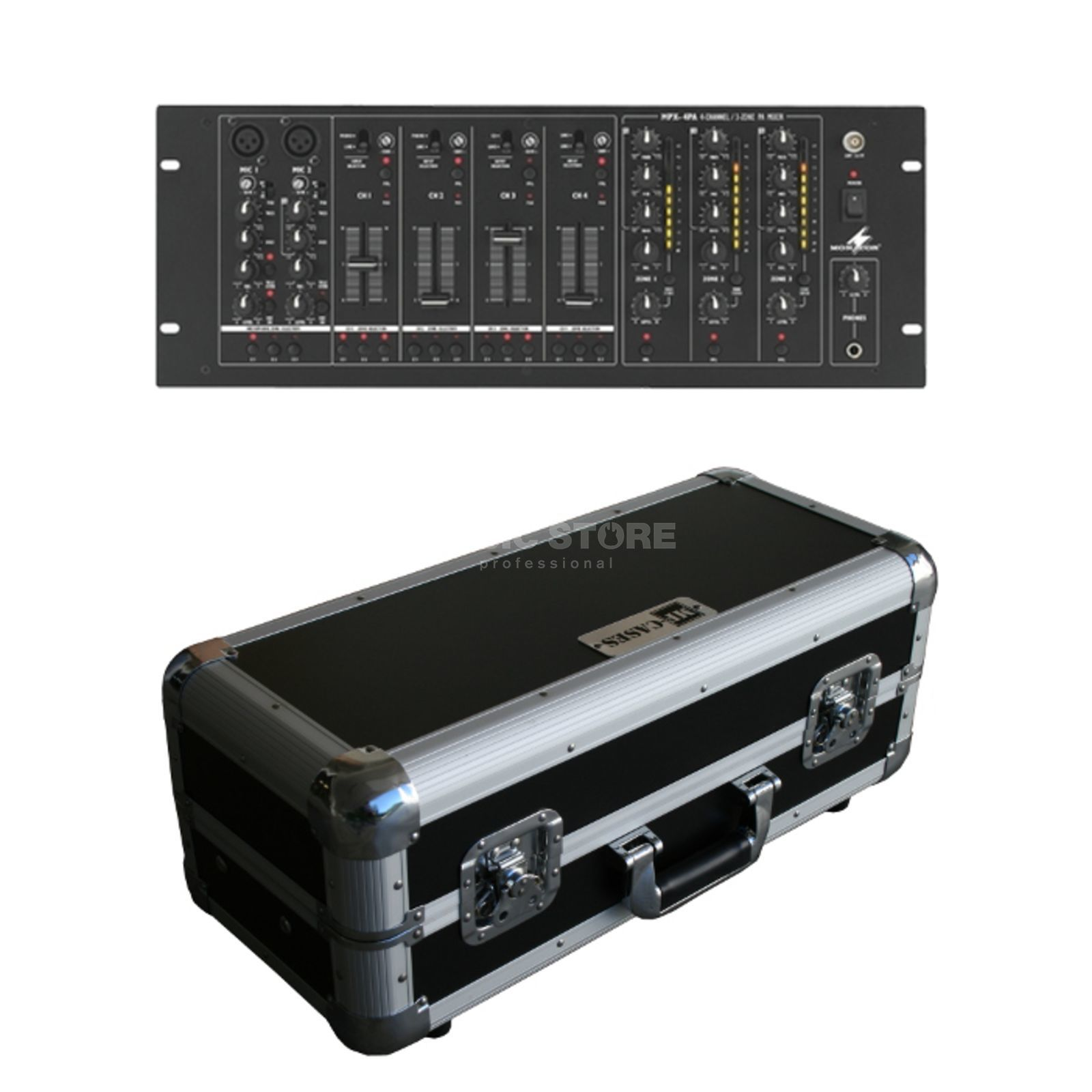 "SET Stage Line MPX-4PA incl. Mixercase 19"" 4HE Produktbillede"