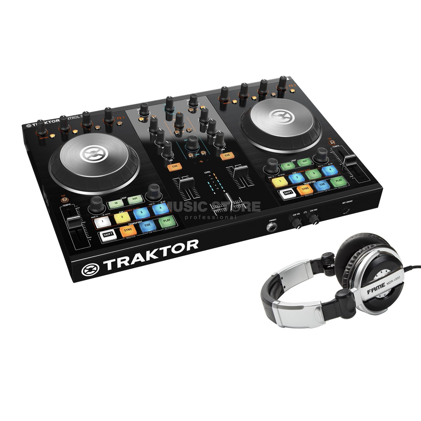 SET TRAKTOR KONTROL S2 MKII incl. MDR-V950 Headphone Produktbild