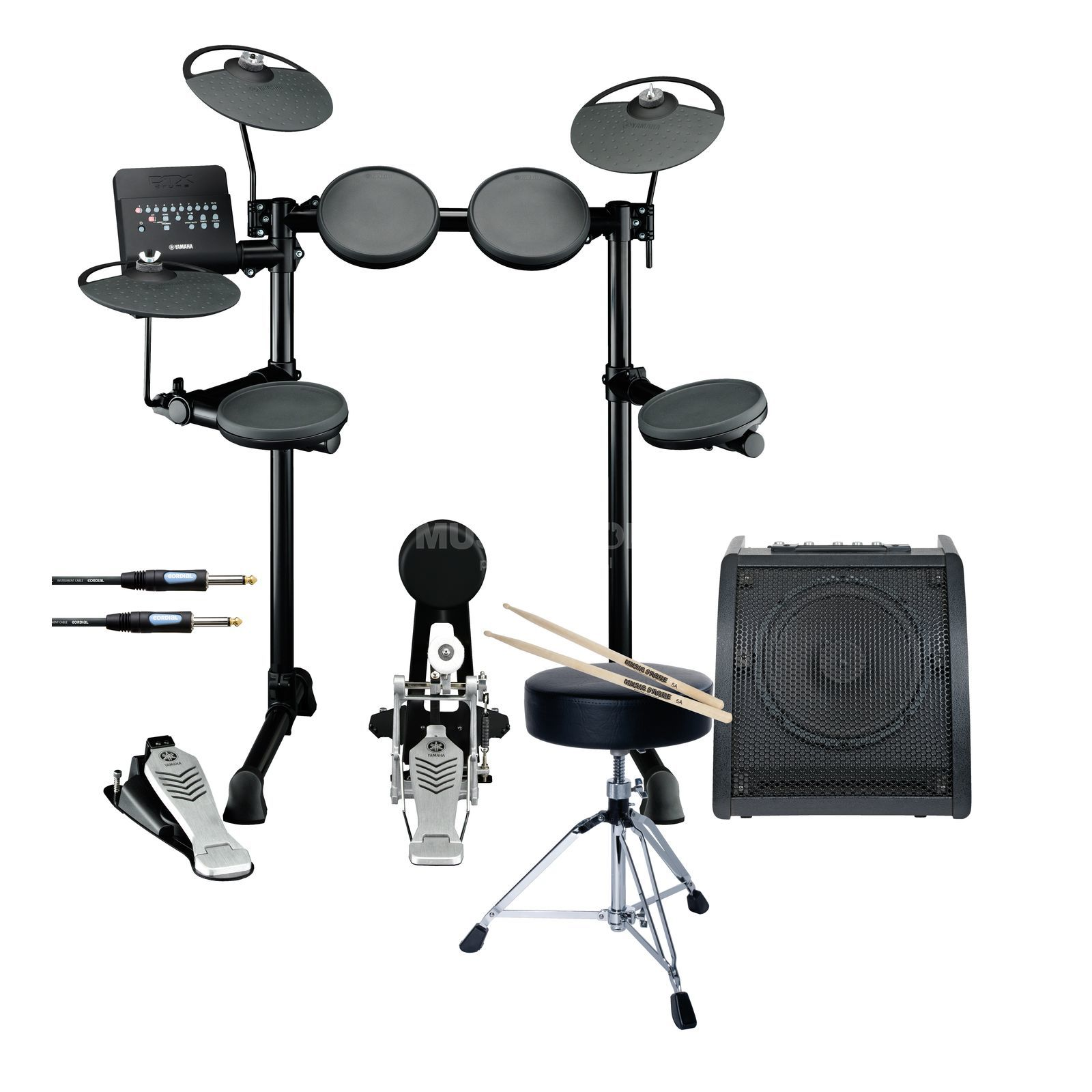 SET YAMAHA DTX430K E-DrumSet inkl. Hocker, Monitor & Sticks Produktbild