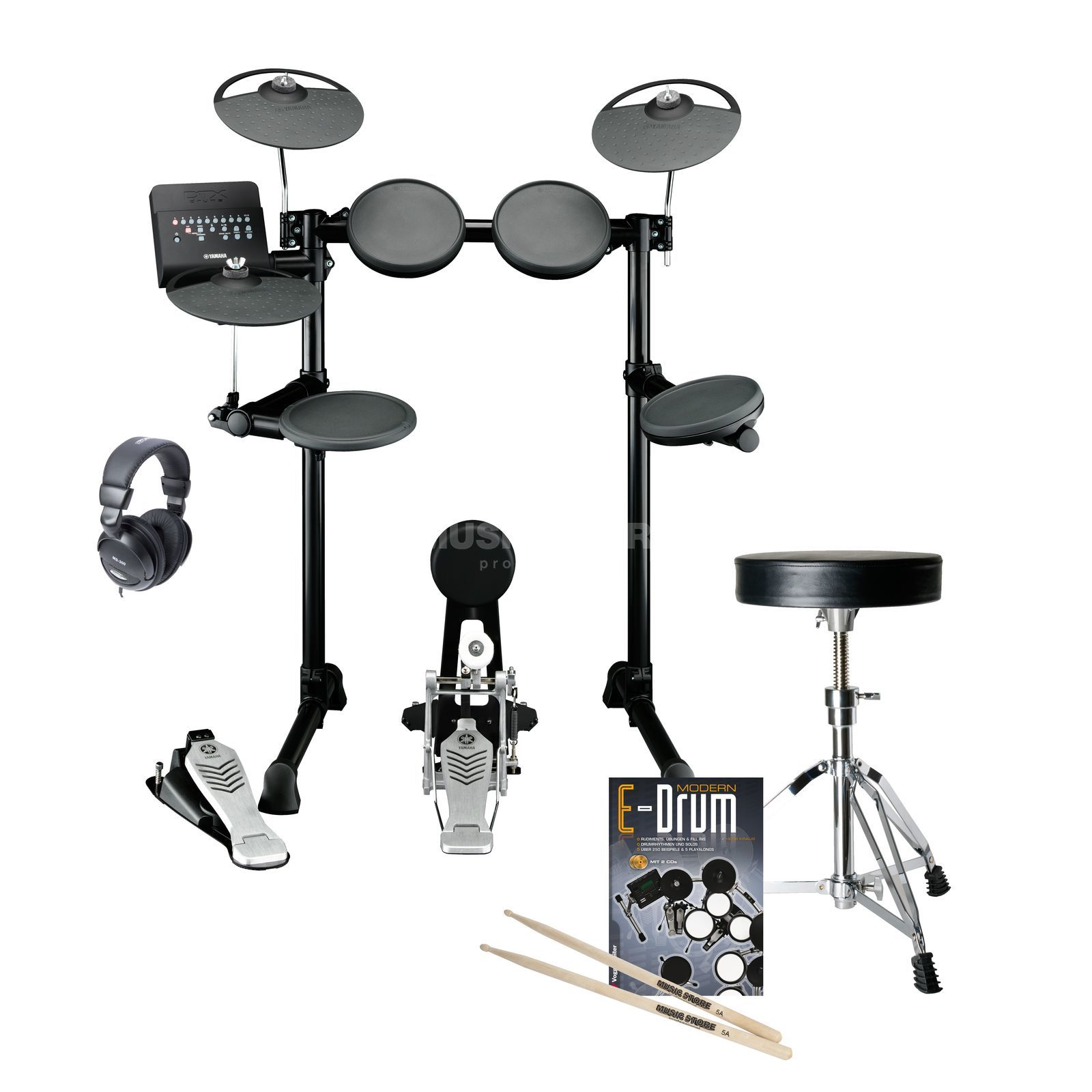 SET YAMAHA DTX450K E-Drum Bundle, inkl. Hocker, Kopfh. & Noten Produktbild