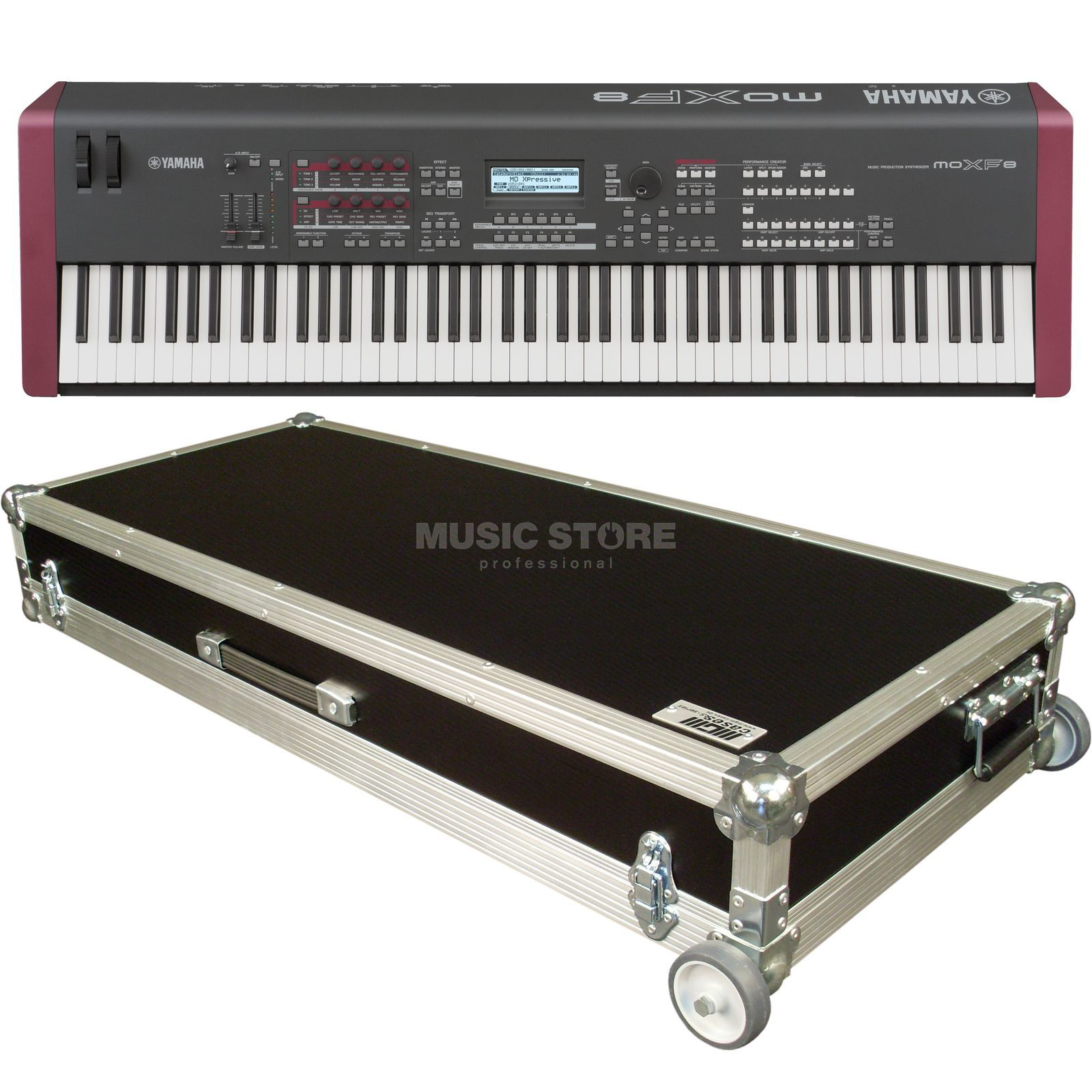 SET Yamaha MOXF 8 Case Bundle Produktbild