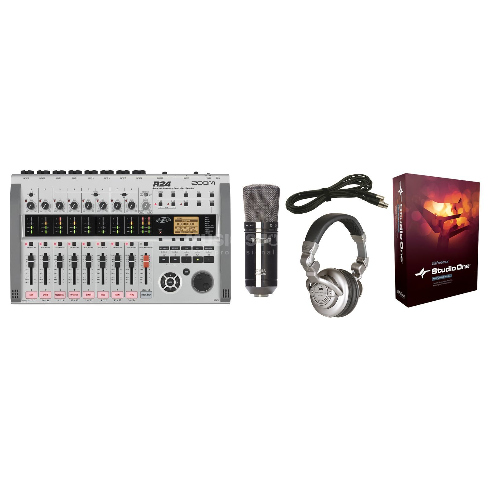 SET Zoom R24 / Studio Bundle Zoom R24 + Mikro + Hörer SET Produktbild