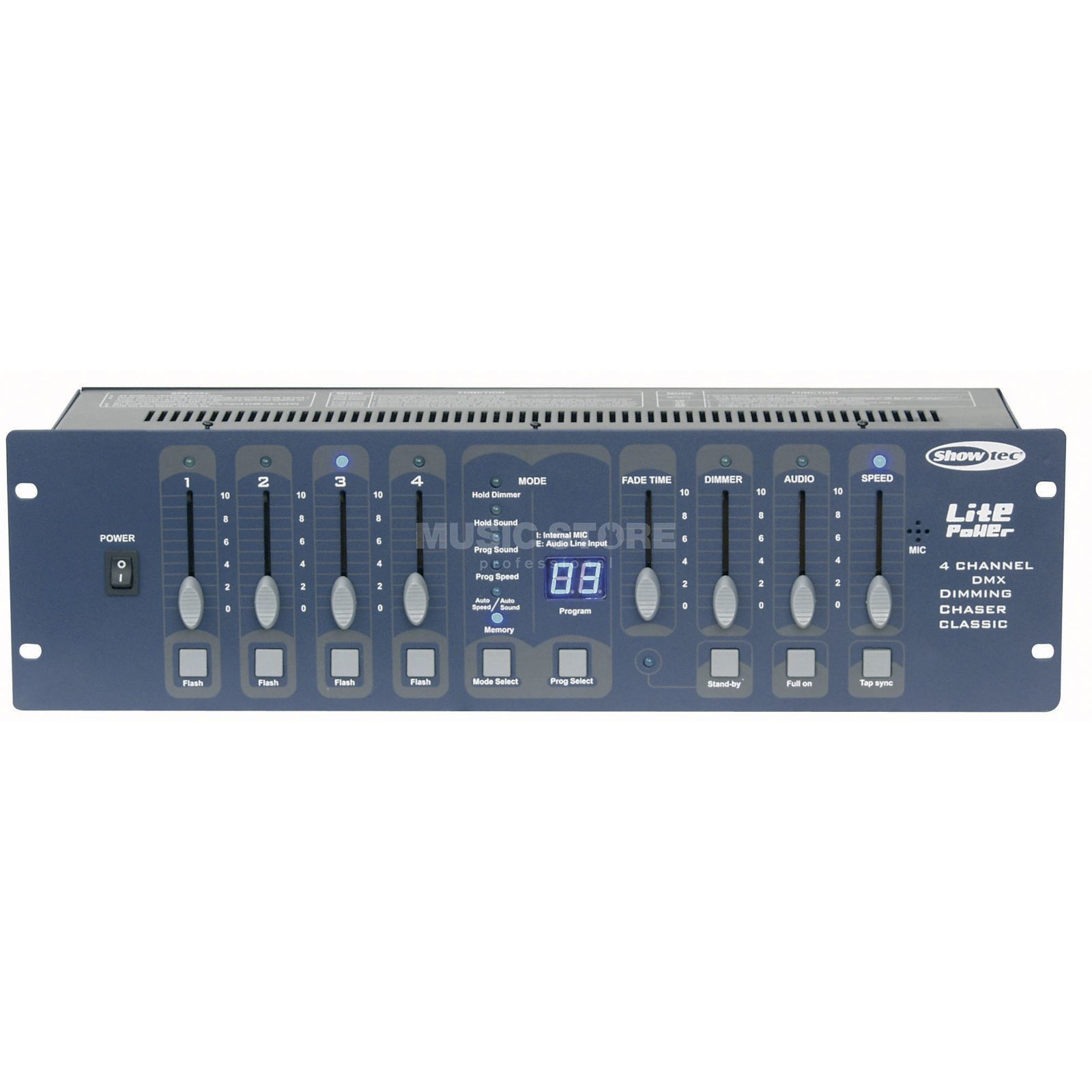 Showtec Lite 4 Power Schuko Controller Dimmer 8 Channel Light Chaser Using 8051