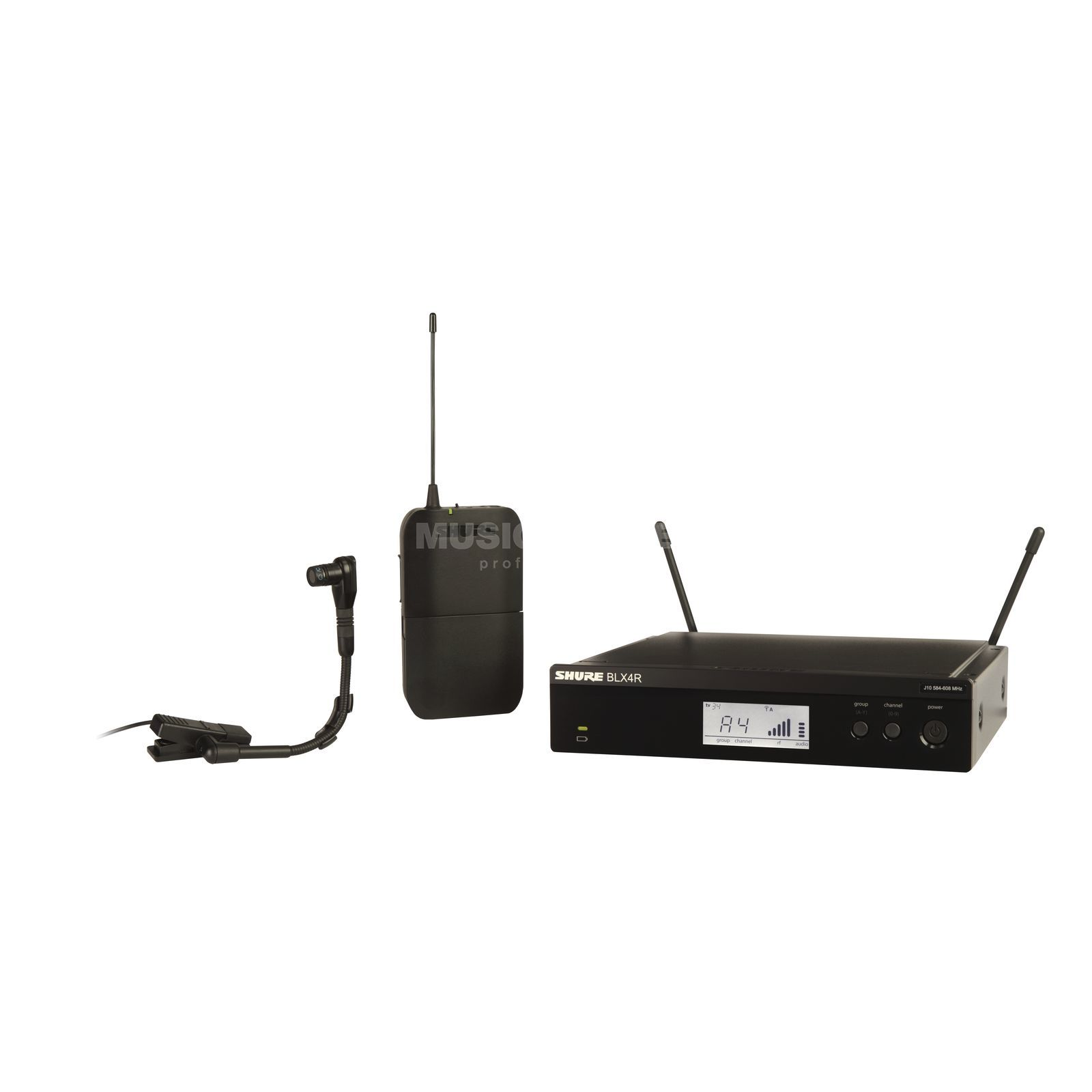 Shure BLX14RE/B98 T11, 863-865MHz Wireless Instrumentmic System Produktbillede