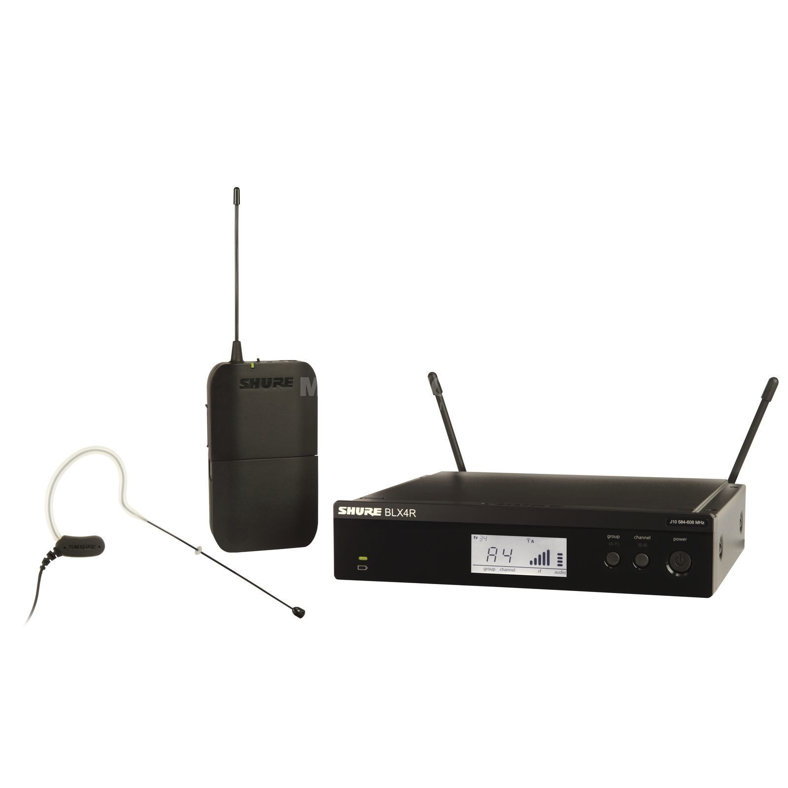 Shure BLX14RE/MX53 S8, 823-832MHz Wireless Earset System Produktbillede