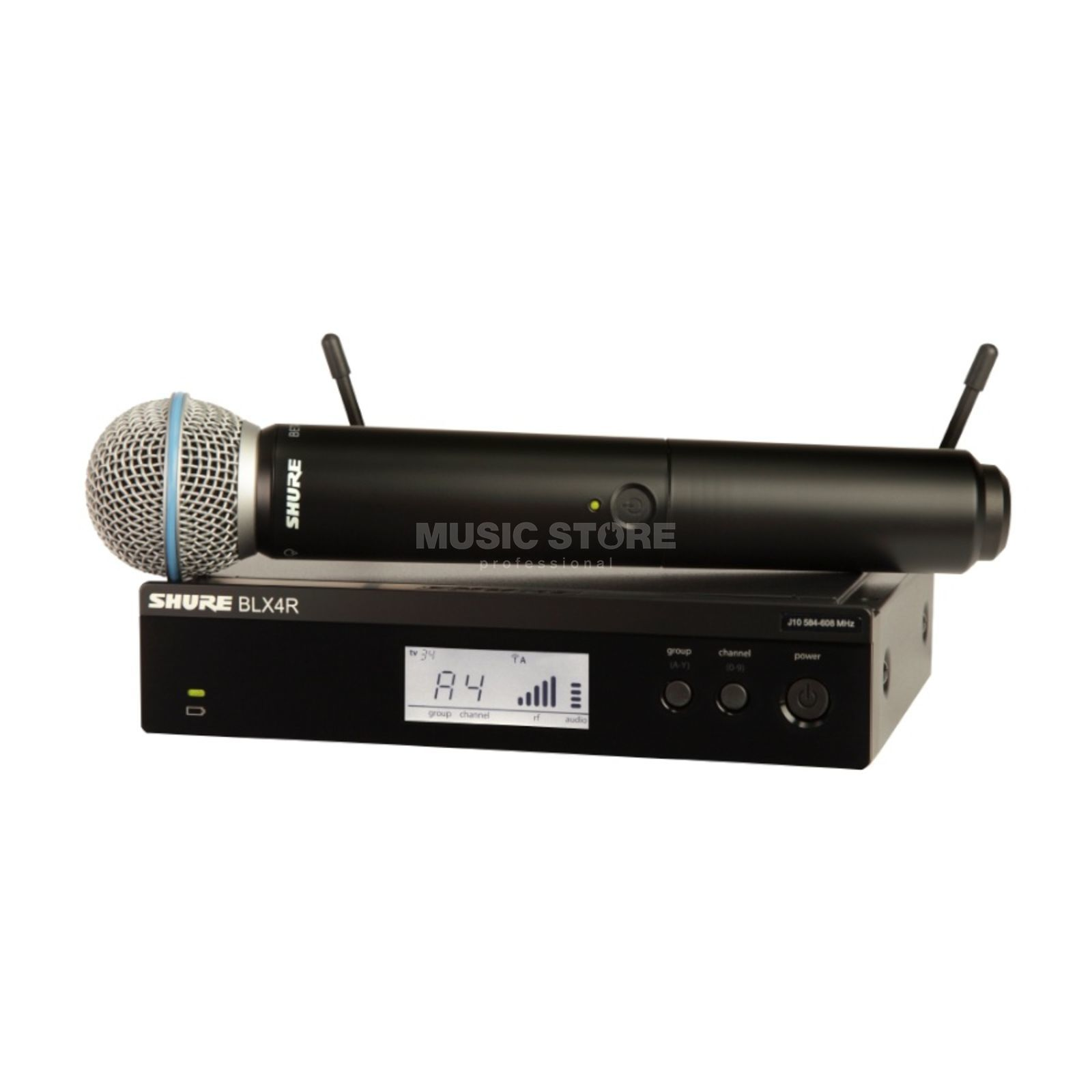 Shure BLX24RE/B58 S8, 823-832MHz Wireless Handheld System Produktbillede