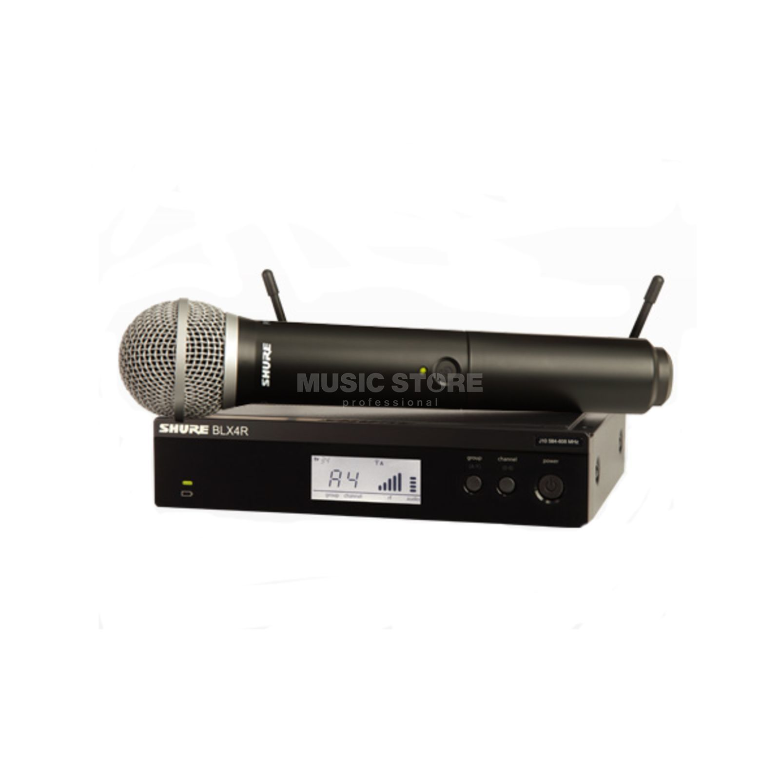 Shure BLX24RE/PG58 T11, 863-865MHz Wireless Handheld System Produktbillede