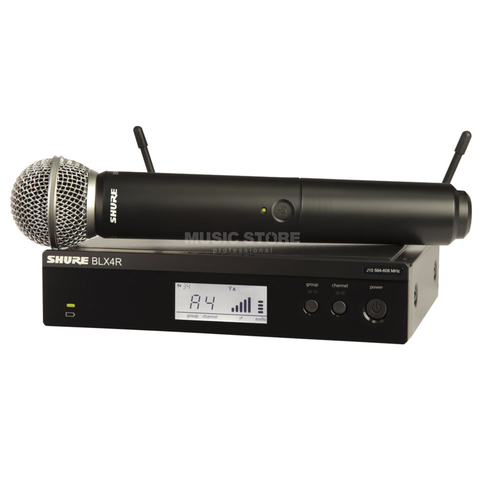 Shure BLX24RE/SM58 T11, 863-865MHz Wireless Handheld System Produktbillede