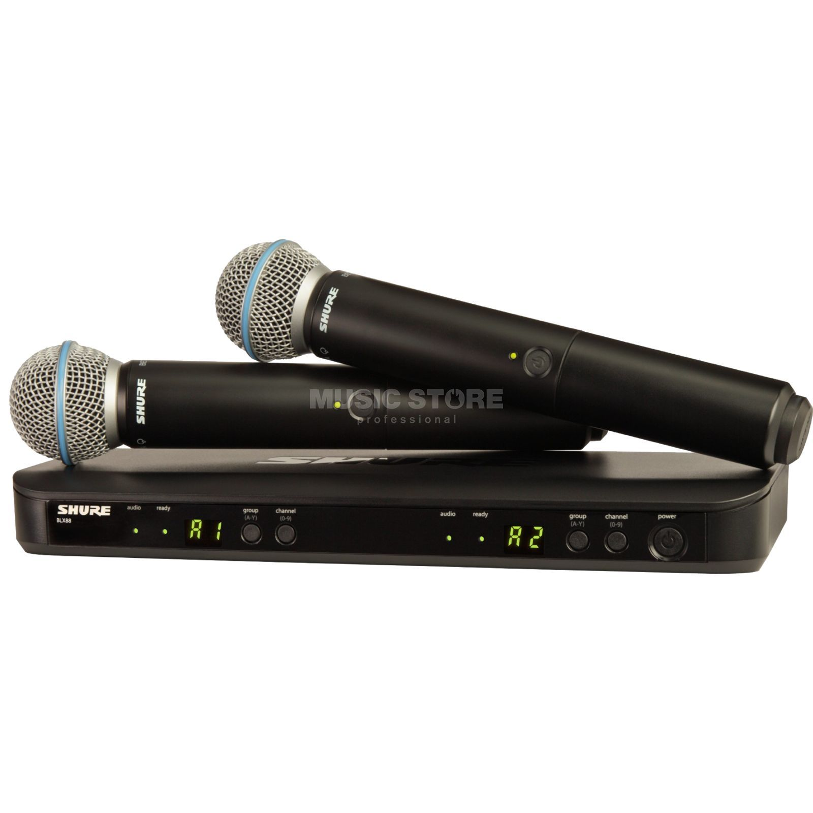 Shure BLX288E/B58 S8, 823-832MHz Wireless Dual Handheld System Product Image