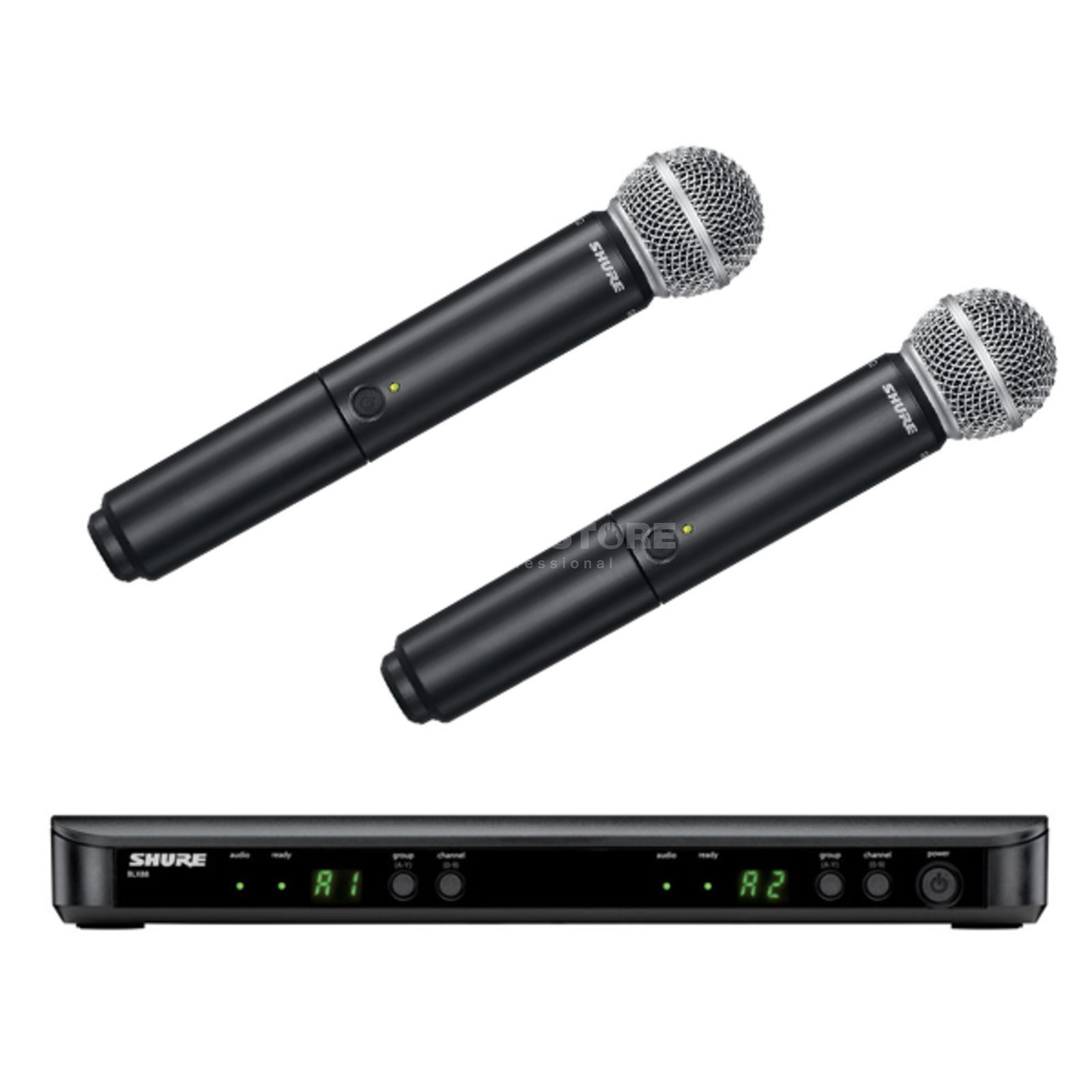 Shure BLX288E/SM58 S8, 823-832MHz Wireless Dual Handheld System Produktbillede
