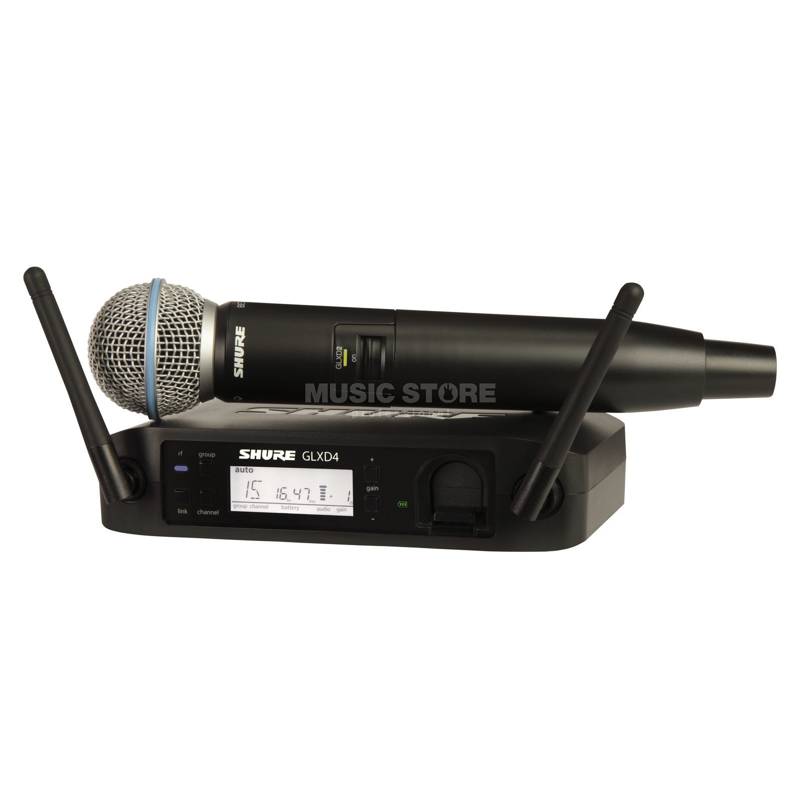 Shure GLXD24E/B58 Z2, 2,4GHz Wireless Handheld System Product Image
